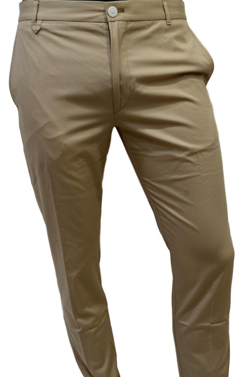 f258e655c03d HUGO BOSS Pantaloni extra slim fit in cotone elasticizzato HUGO 50331253  BEIGE