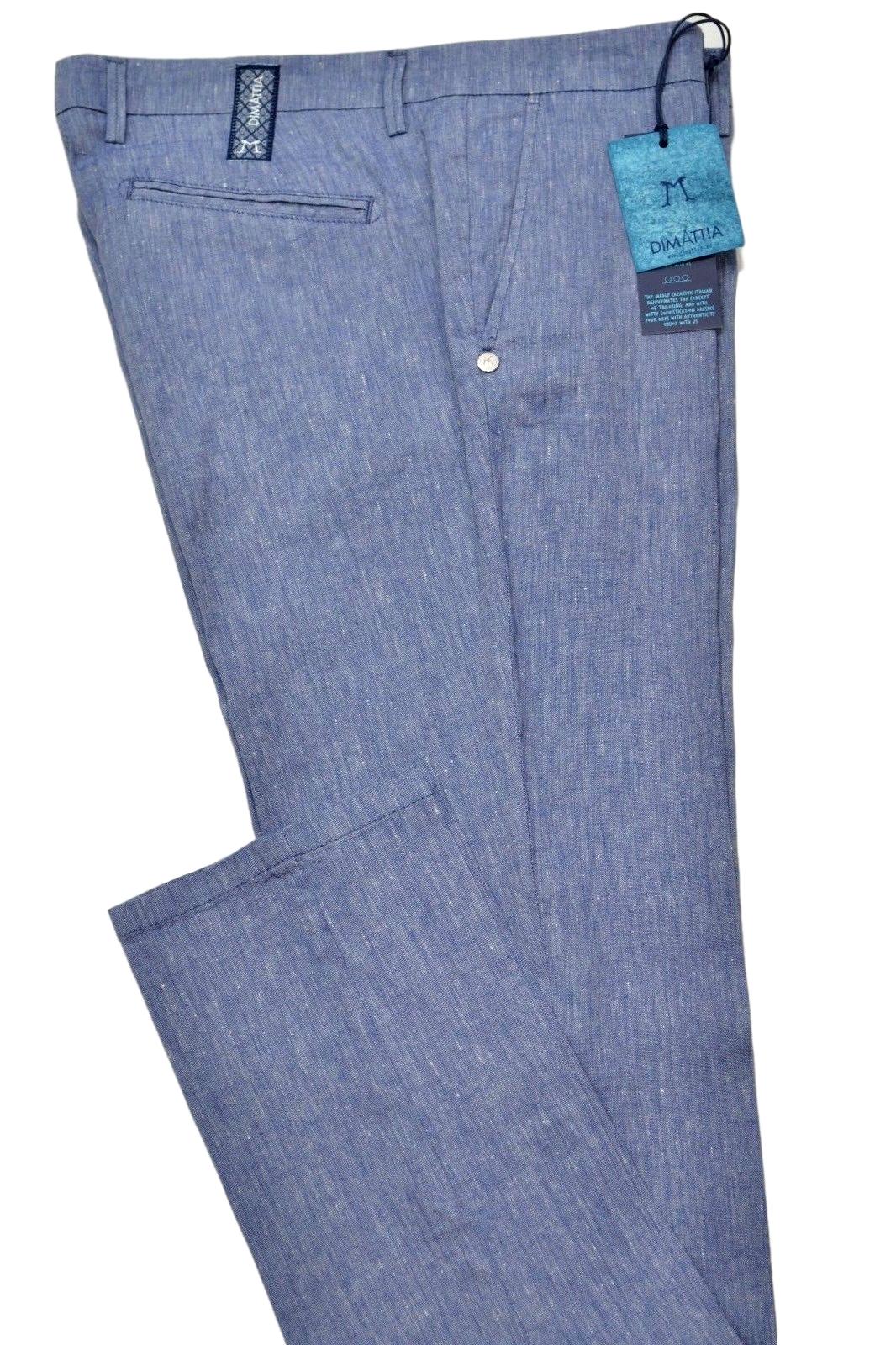 amore Produttivo Essere sorpreso  Pantaloni & Jeans - amelia stella fashion - DIMATTIA PANTALONE UOMO TAGLIA  50 MOD. SANREMO COL. BLU CHIARO MISTO LINO