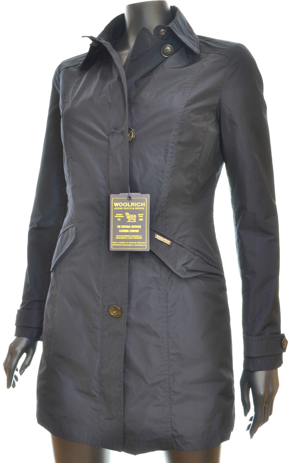 cheap for discount 3755f 8d82d WOOLRICH W'S TRAVEL COAT TG. XL COL. BLU GIACCA IMPERMEABILE DONNA wwcps2336