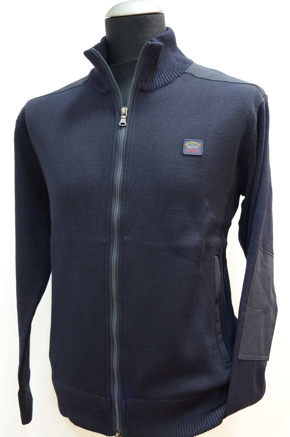 PAUL  SHARK YACHTING CARDIGAN ZIP COL. BLU 050 COP. 916