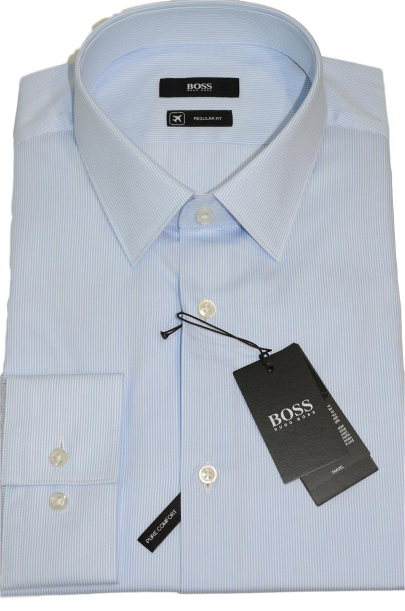 HUGO BOSS Camicia regular fit in cotone Fresh Active Modello Eliott - 50393150
