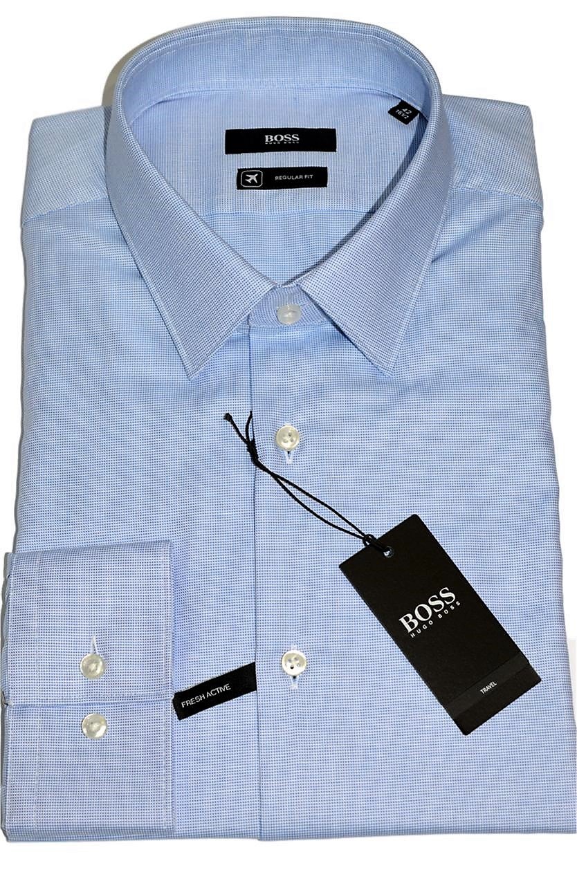 HUGO BOSS Camicia regular fit in cotone Fresh Active Modello Eliott - 50393152