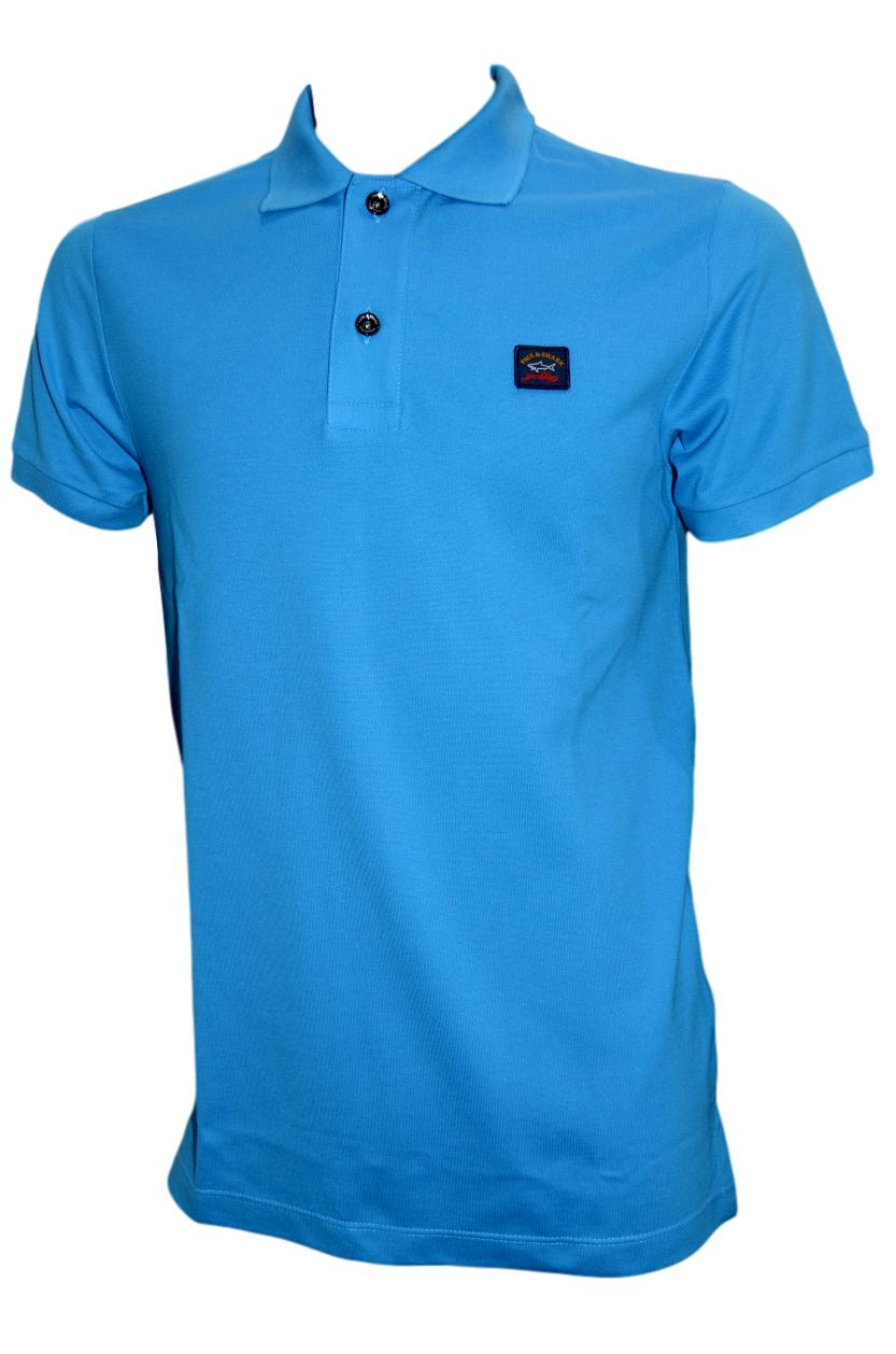 Paul  Shark Yachting Polo I17p1033sf col. 200 LIGHT BLUE SLIM FIT