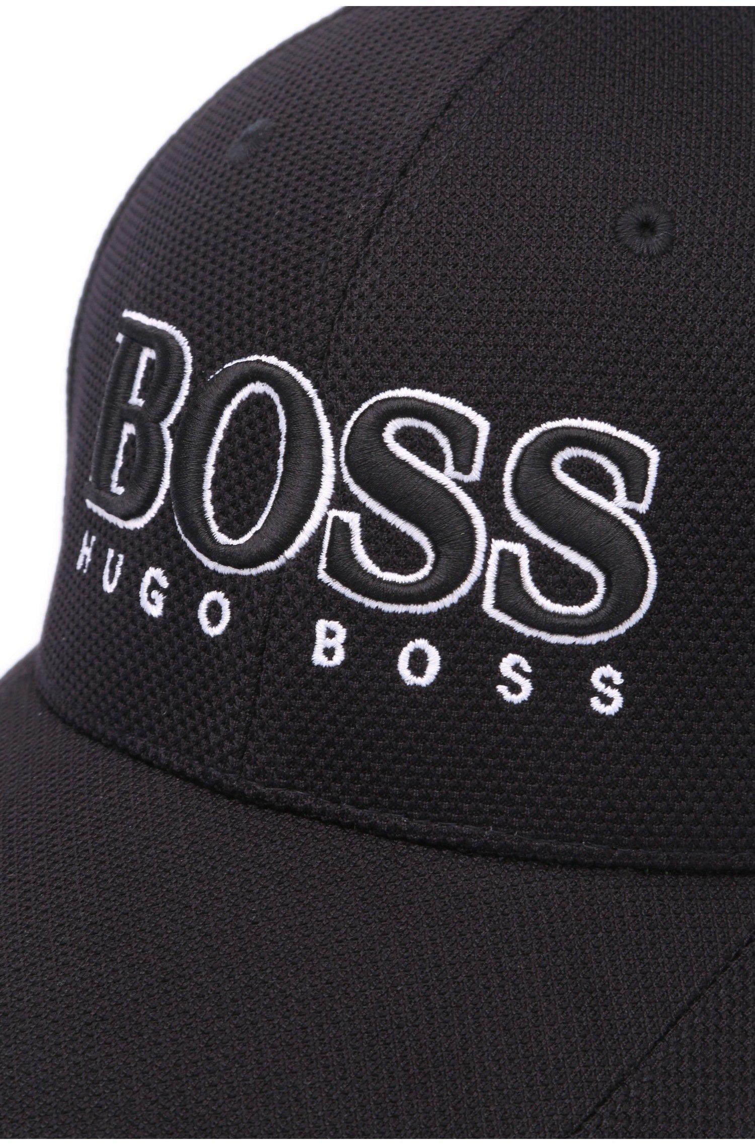 25cfaa1fb6047f ... HUGO BOSS Cappellino da baseball in pique tecnico NERO Modello Cap US -  50251244 ...