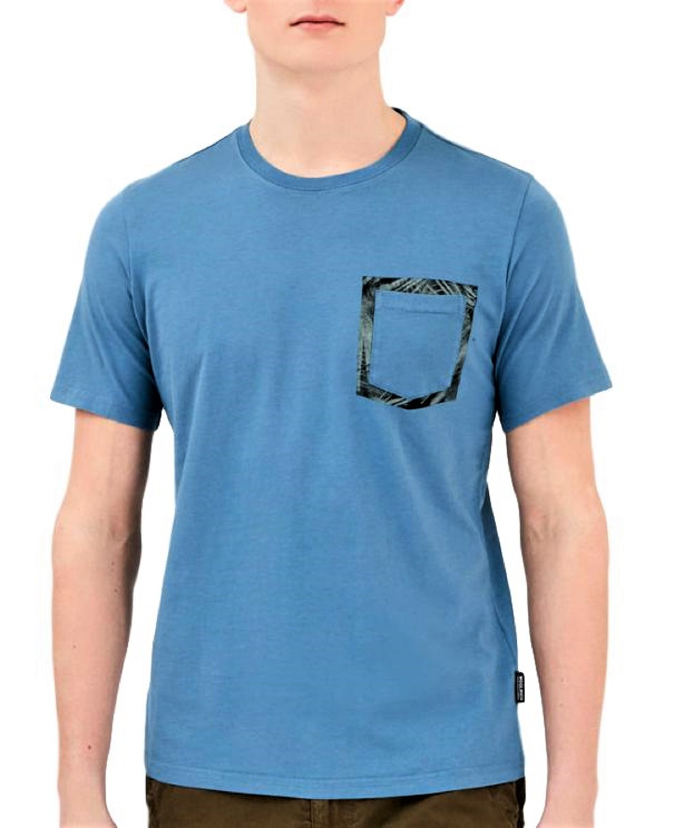 WOOLRICH T SHIRT Floreal Pocket Tee Colore: AVIATION WOTEE1153-UT1486-3115