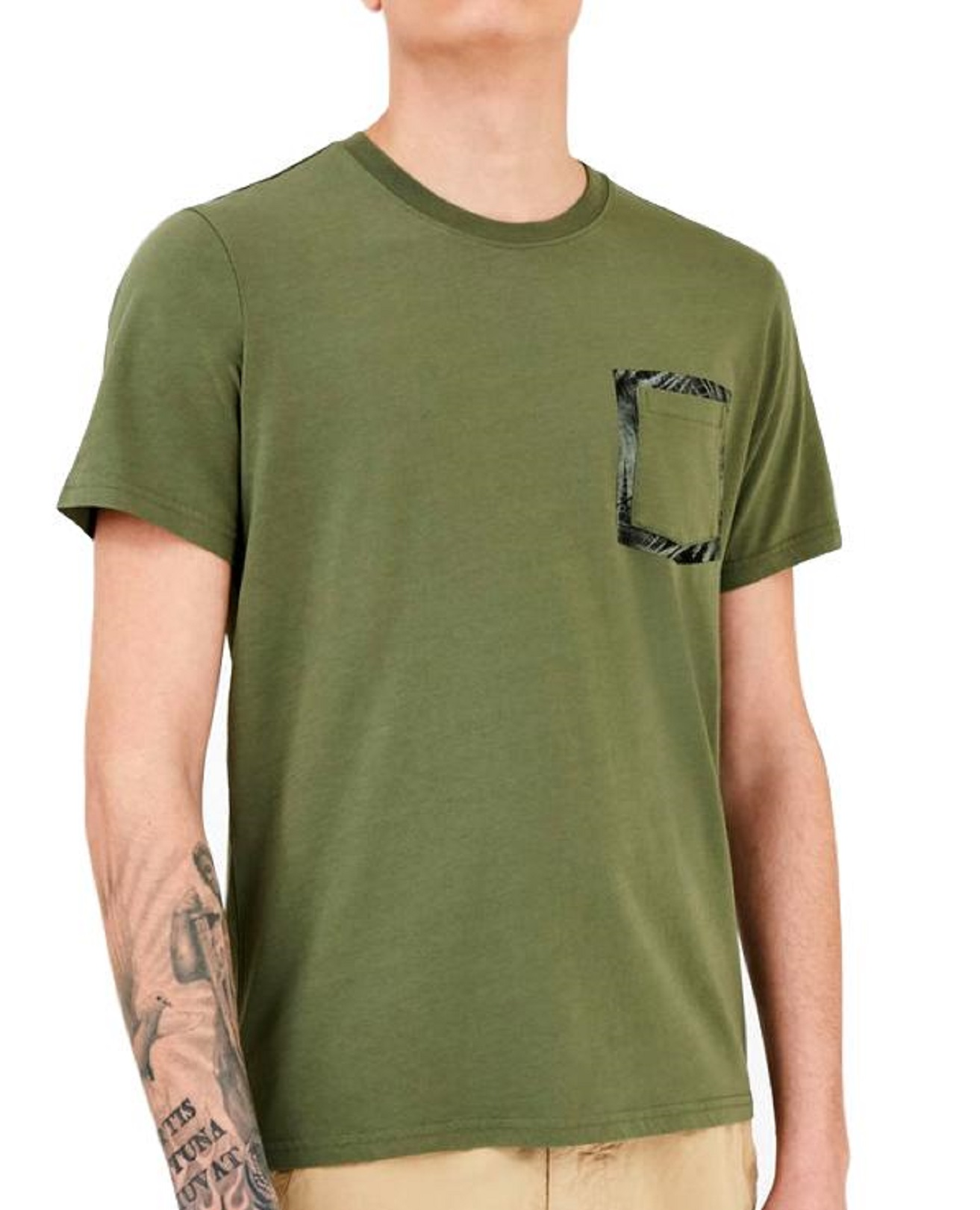 WOOLRICH T SHIRT Floreal Pocket Tee Colore: GREEN FIELD WOTEE1153-UT1486-6373