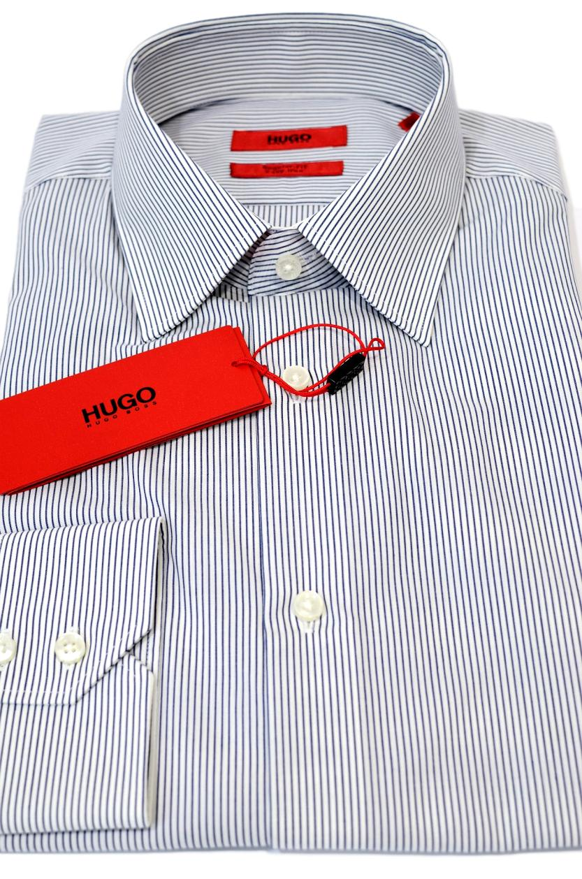 Hugo Boss Camicia REGULAR FIT cotone Mod. C-Enzo RIGA BLU 50381794