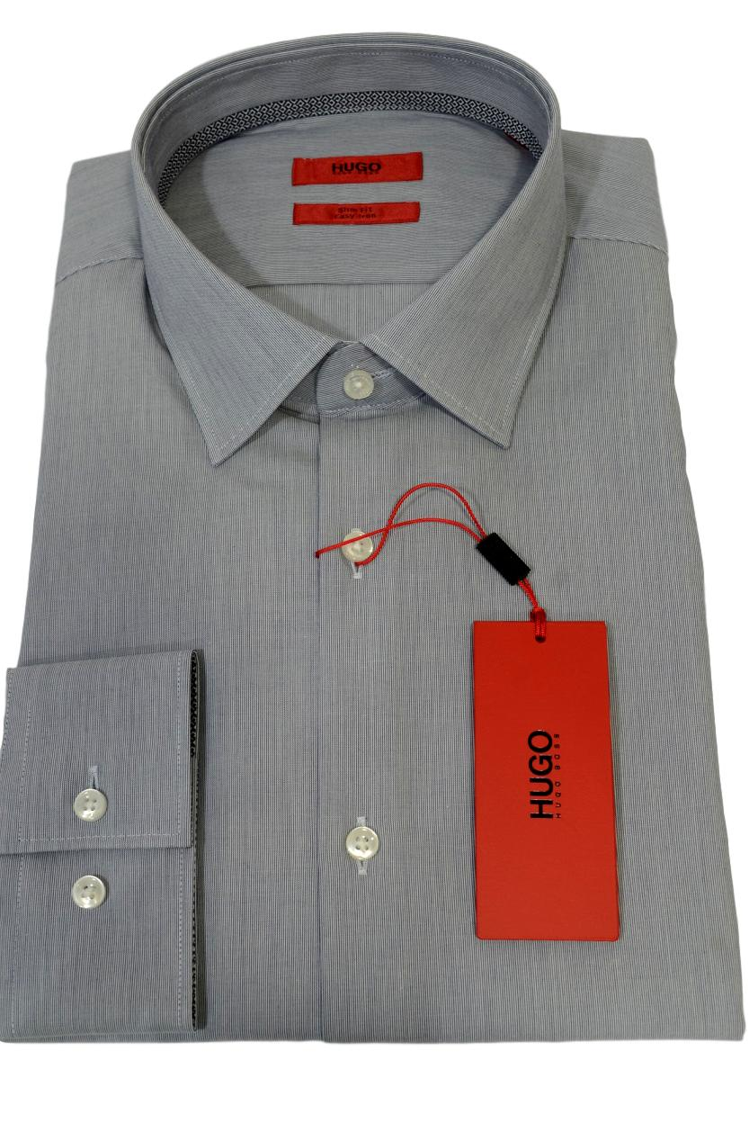 HUGO BOSS Camicia slim fit facile stiro in cotone C-Joey 50381789 413 riga blu