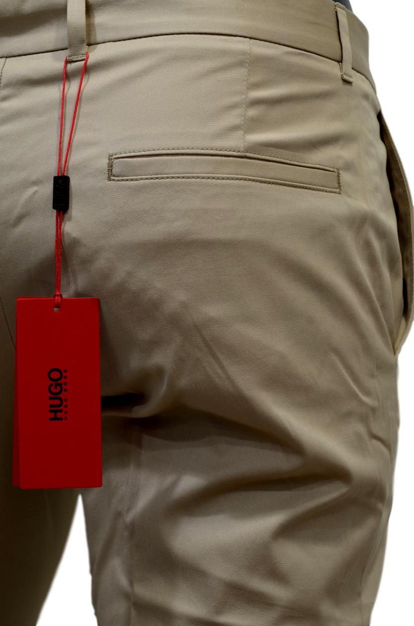 07b7653c7d00 ... HUGO BOSS Pantaloni extra slim fit in cotone elasticizzato HUGO  50331253 BEIGE ...