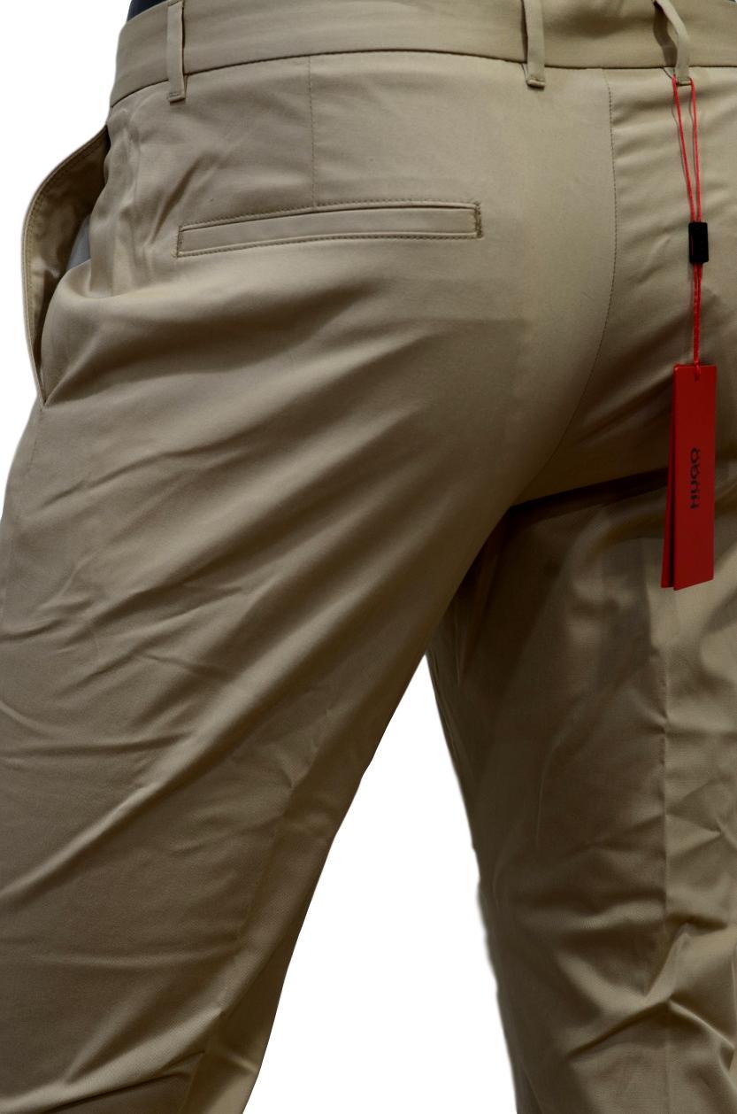 6a68ef51d385 ... HUGO BOSS Pantaloni extra slim fit in cotone elasticizzato HUGO  50331253 BEIGE