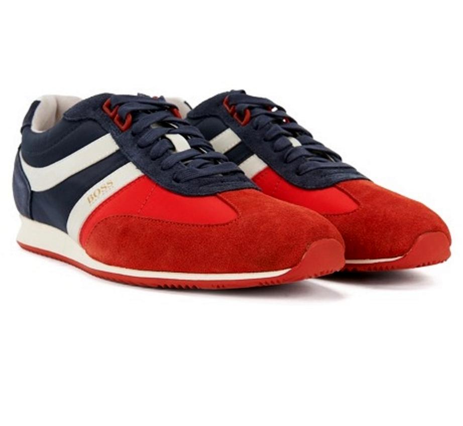 c77a4885a HUGO BOSS Sneakers in pelle scamosciata 50383637 RED taglia EU 40 - UK 6 -  US
