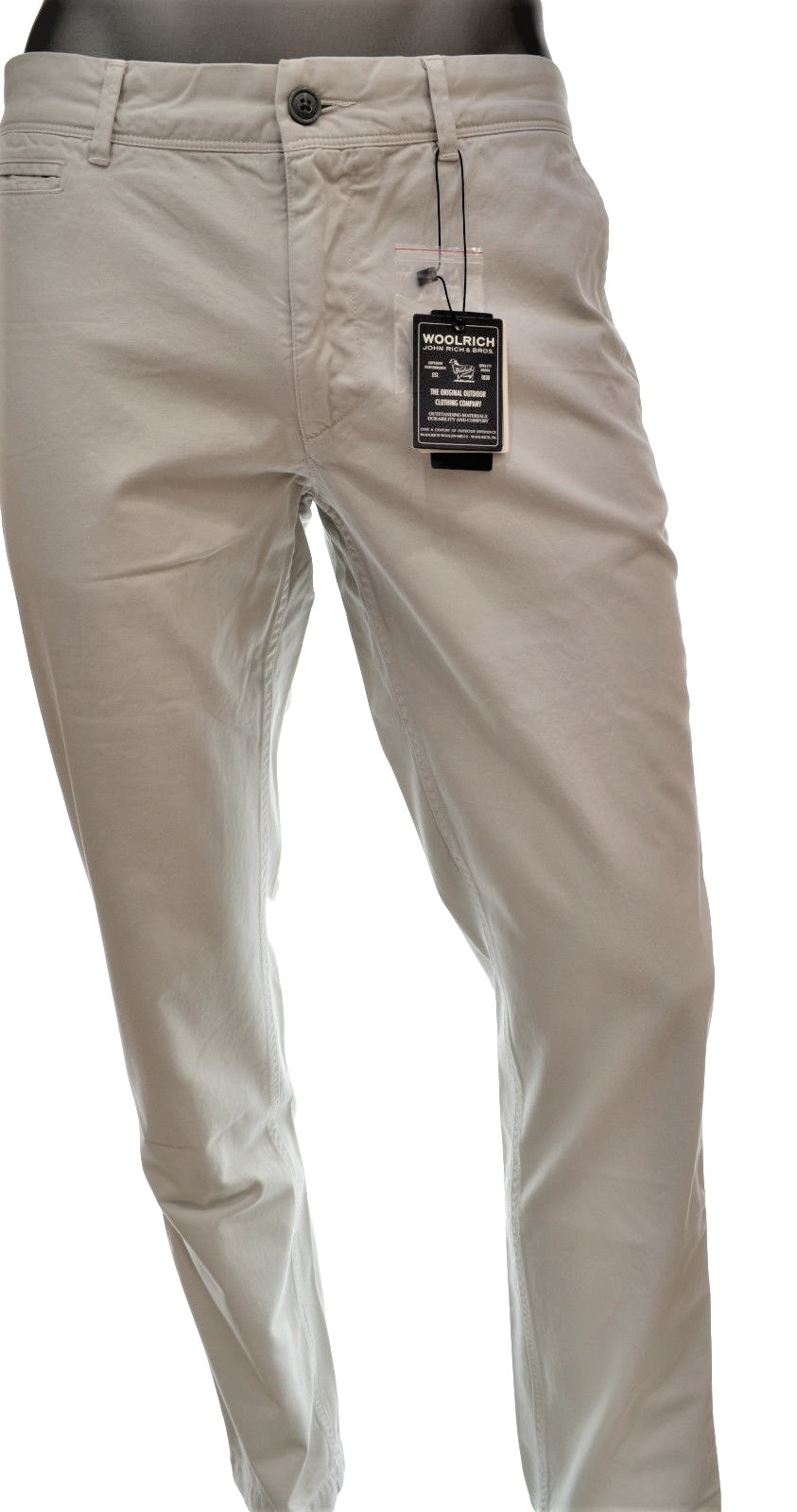 WOOLRICH PANTALONE UOMO TG. 38 COLORE SUMMER STONE CLASSIC CHINO FIT WOPAN1084