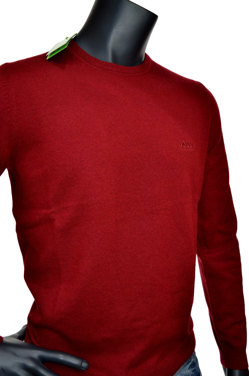 HUGO BOSS MAGLIA REGULAR FIT TAGLIA XXXL LAMBSWOOL C-CECIL_03 50374869 BORDO