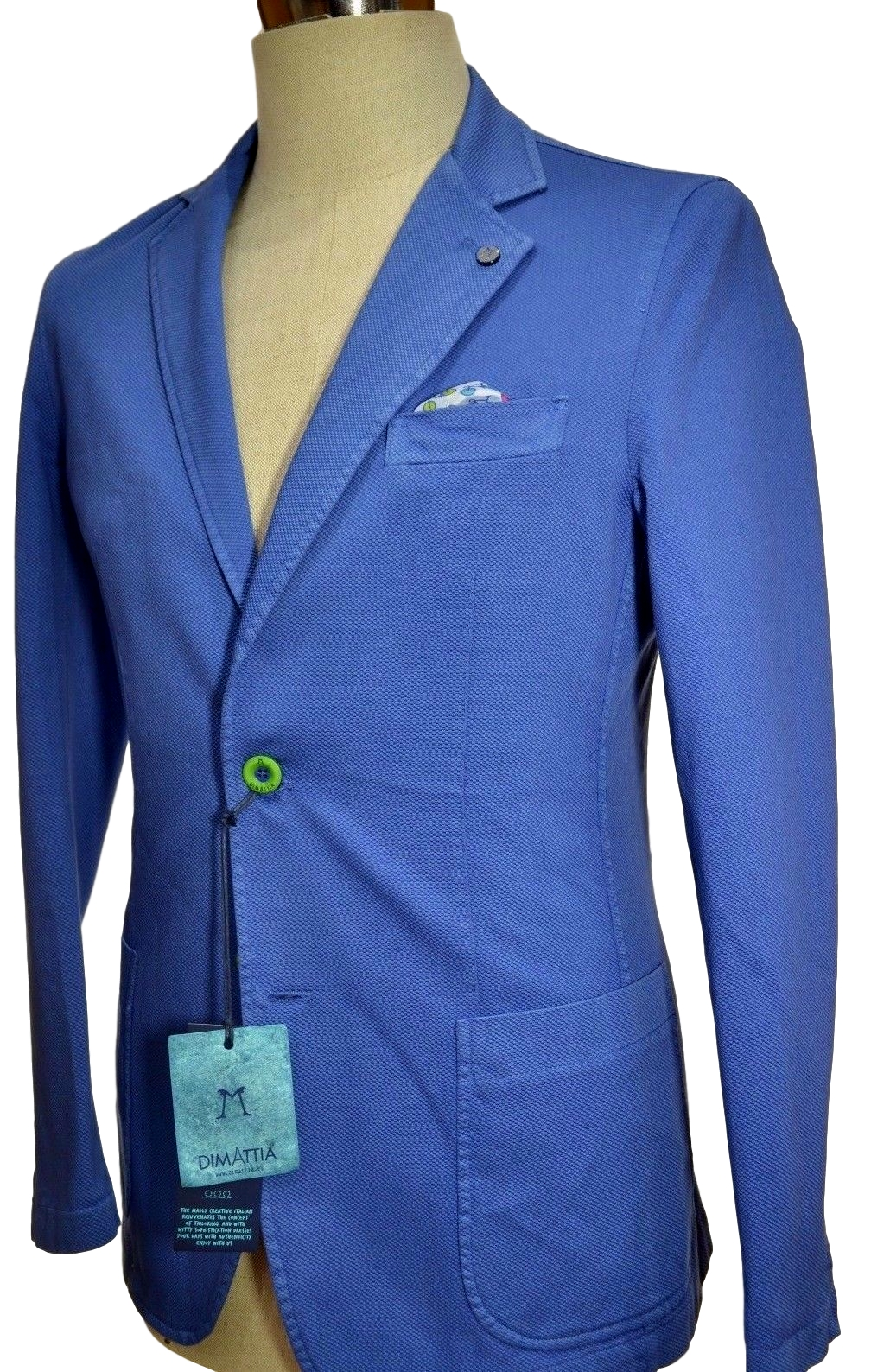 DIMATTIA GIACCA UOMO TG. 48 SLIM FIT PRINCE PIQUET MADE IN ITALY