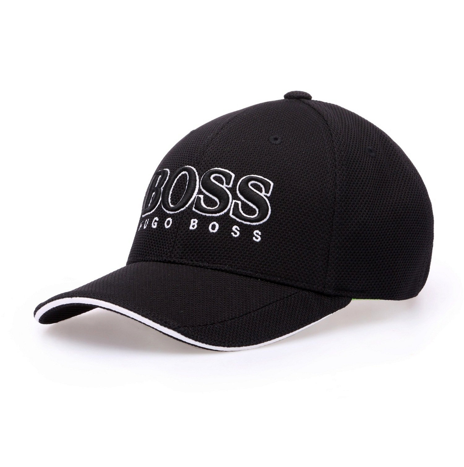 HUGO BOSS Cappellino da baseball in pique tecnico NERO Modello Cap US - 50251244