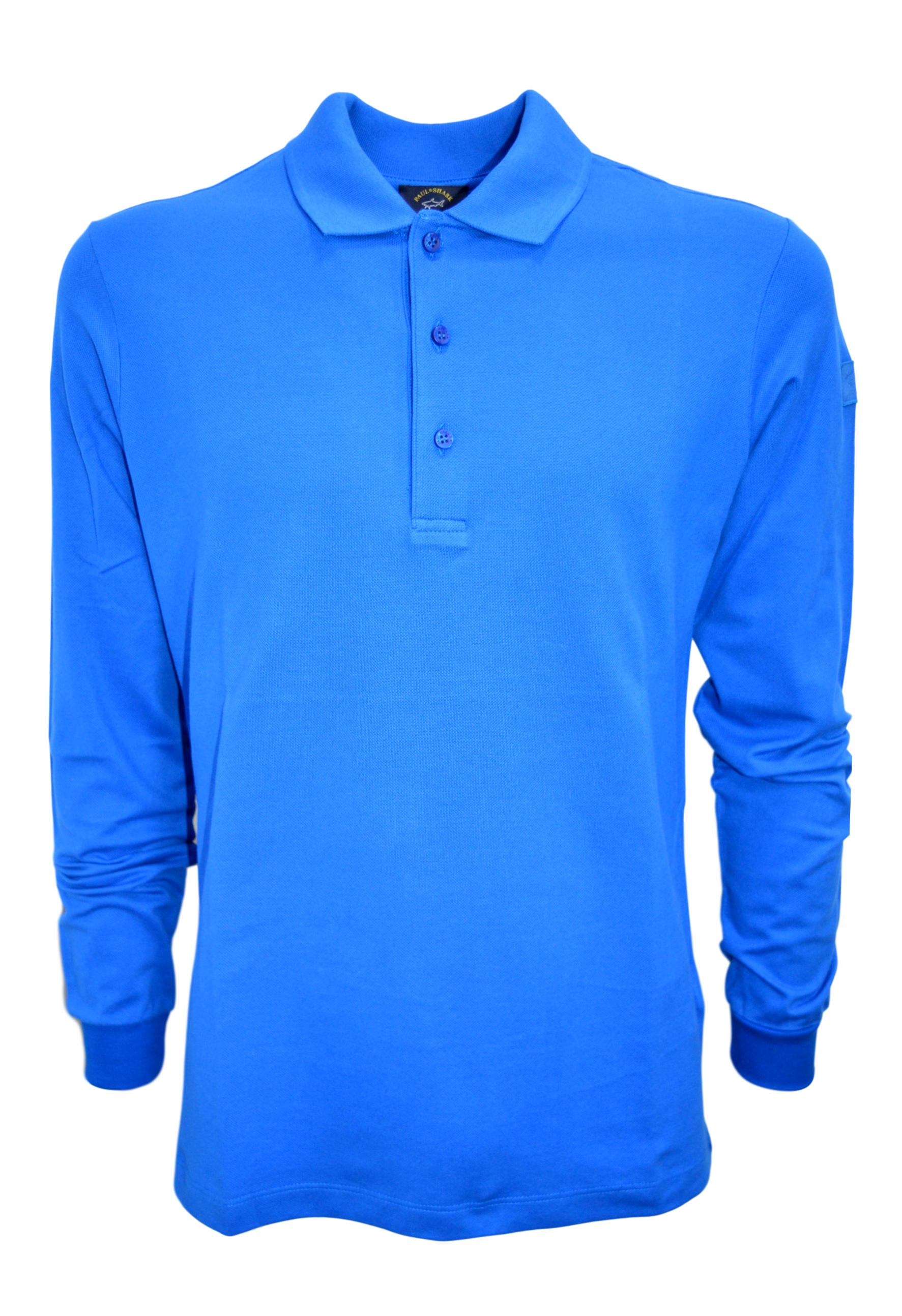 PAUL SHARK YACHTING POLO P19P1520 MANICA LUNGA COL. 049 AZZURRO