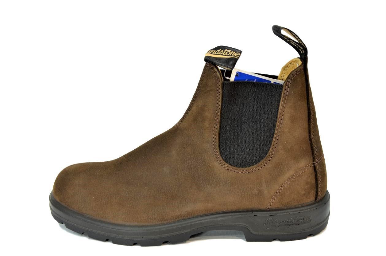 reputable site adf11 9f7ea Dettagli su BLUNDSTONE 1606 STIVALETTI AUSTRALIANI BROWN NUBUCK PEBBLE