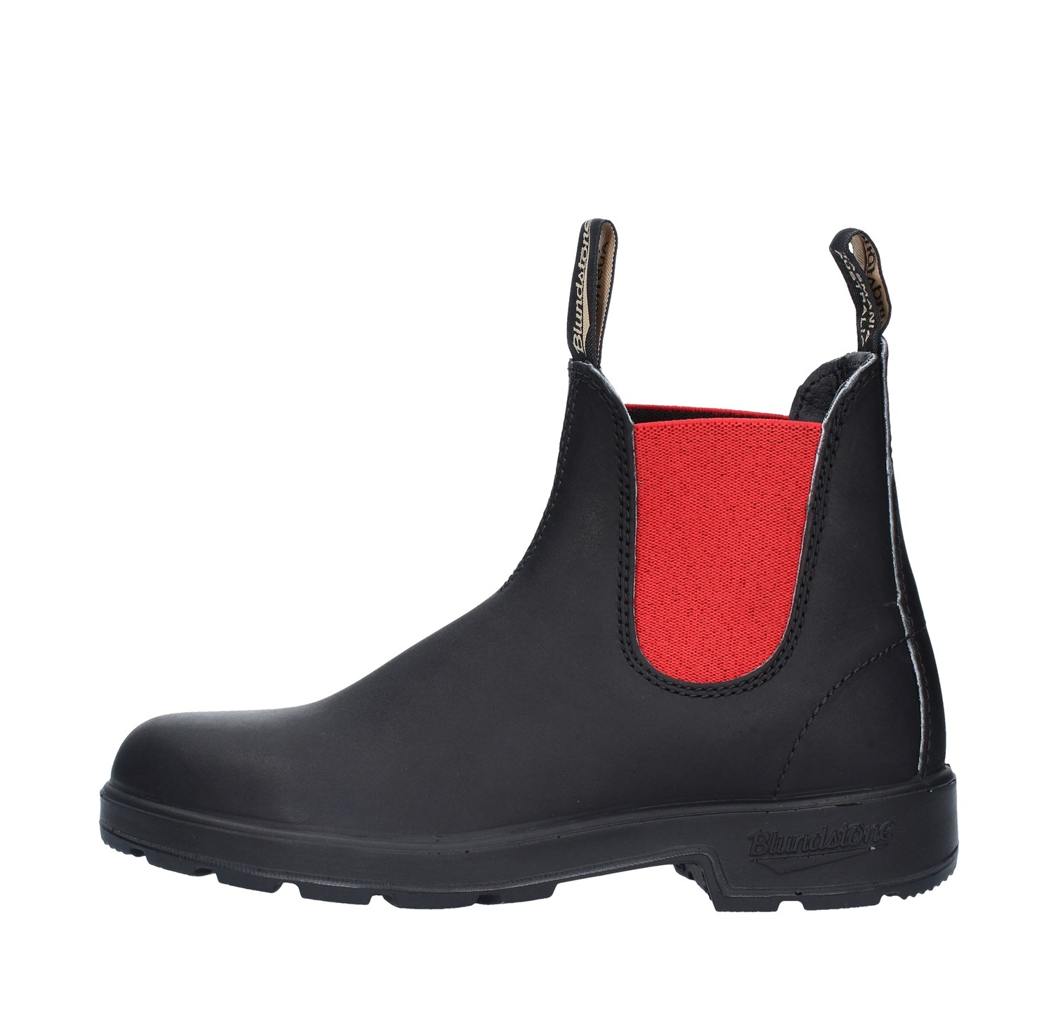 BLUNDSTONE 508 STIVALETTI AUSTRALIANI PREMIUM LEATHER VOLTAN BLACK RED
