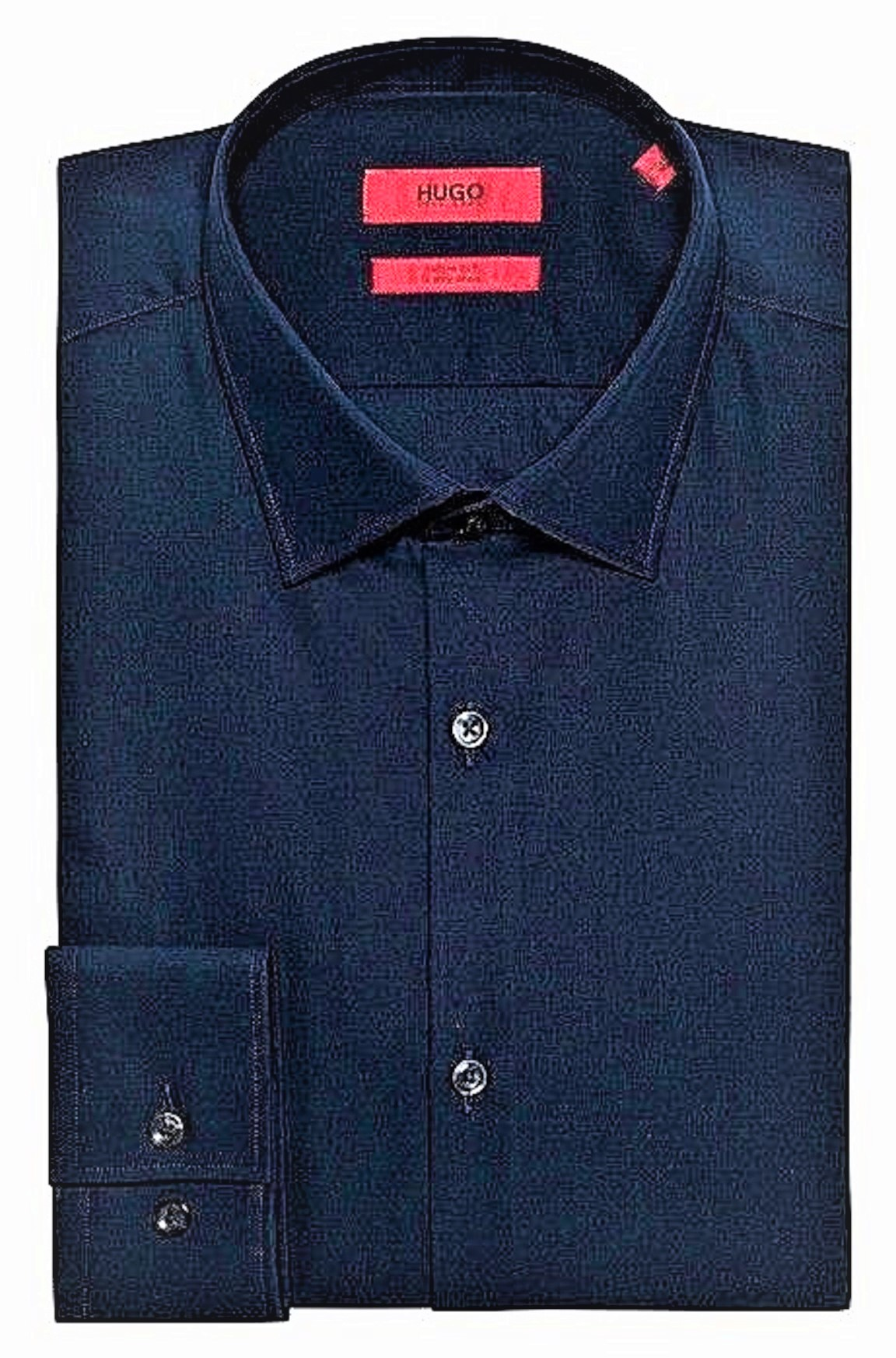 HUGO BOSS Camicia business slim fit in popeline di cotone C-Jenno - 50289499 BLU