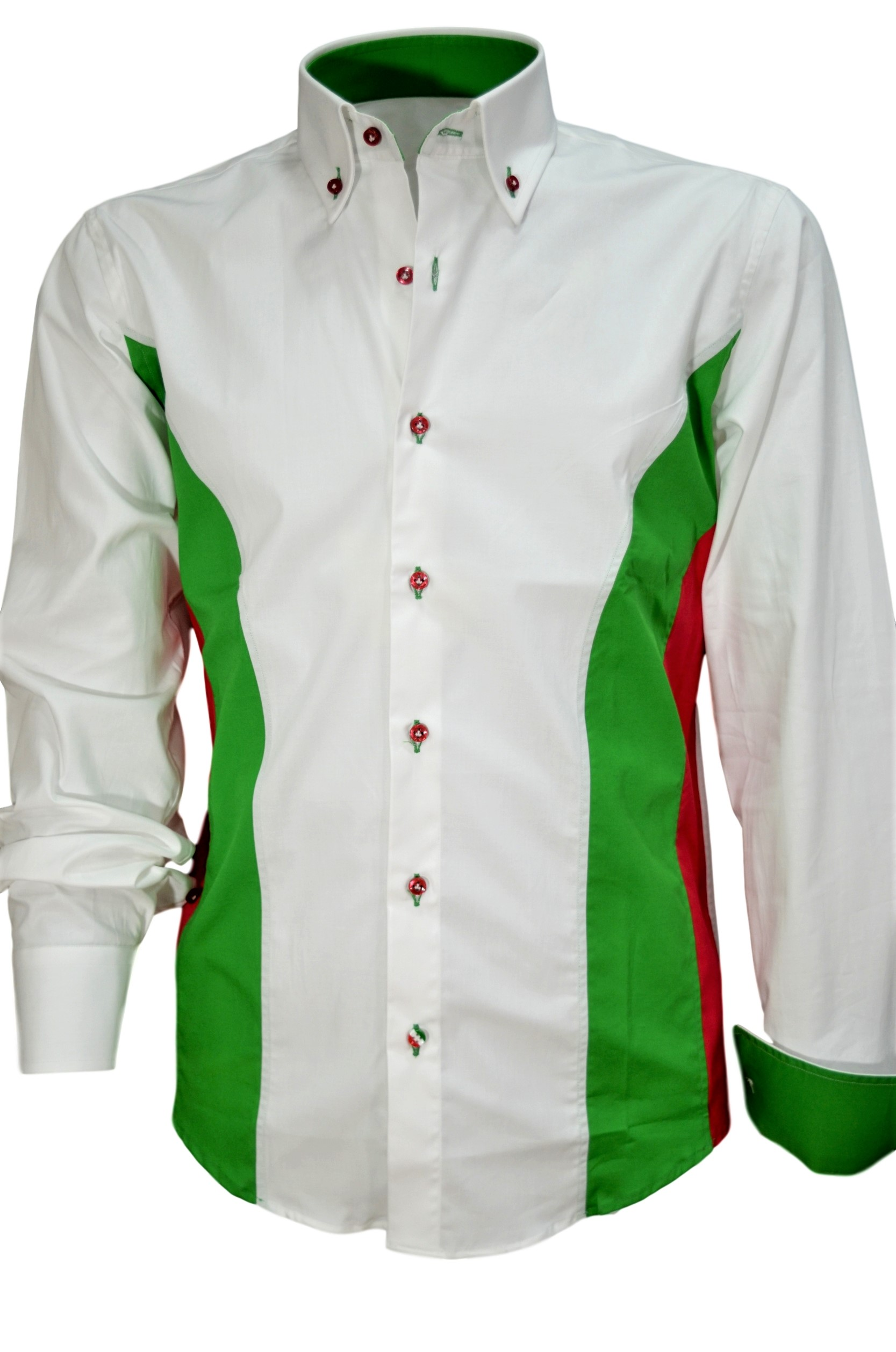 AMELIASTELLA FASHION CAMICIA UOMO SLIM FIT TRICOLORE ITALIA COTONE STRETCH