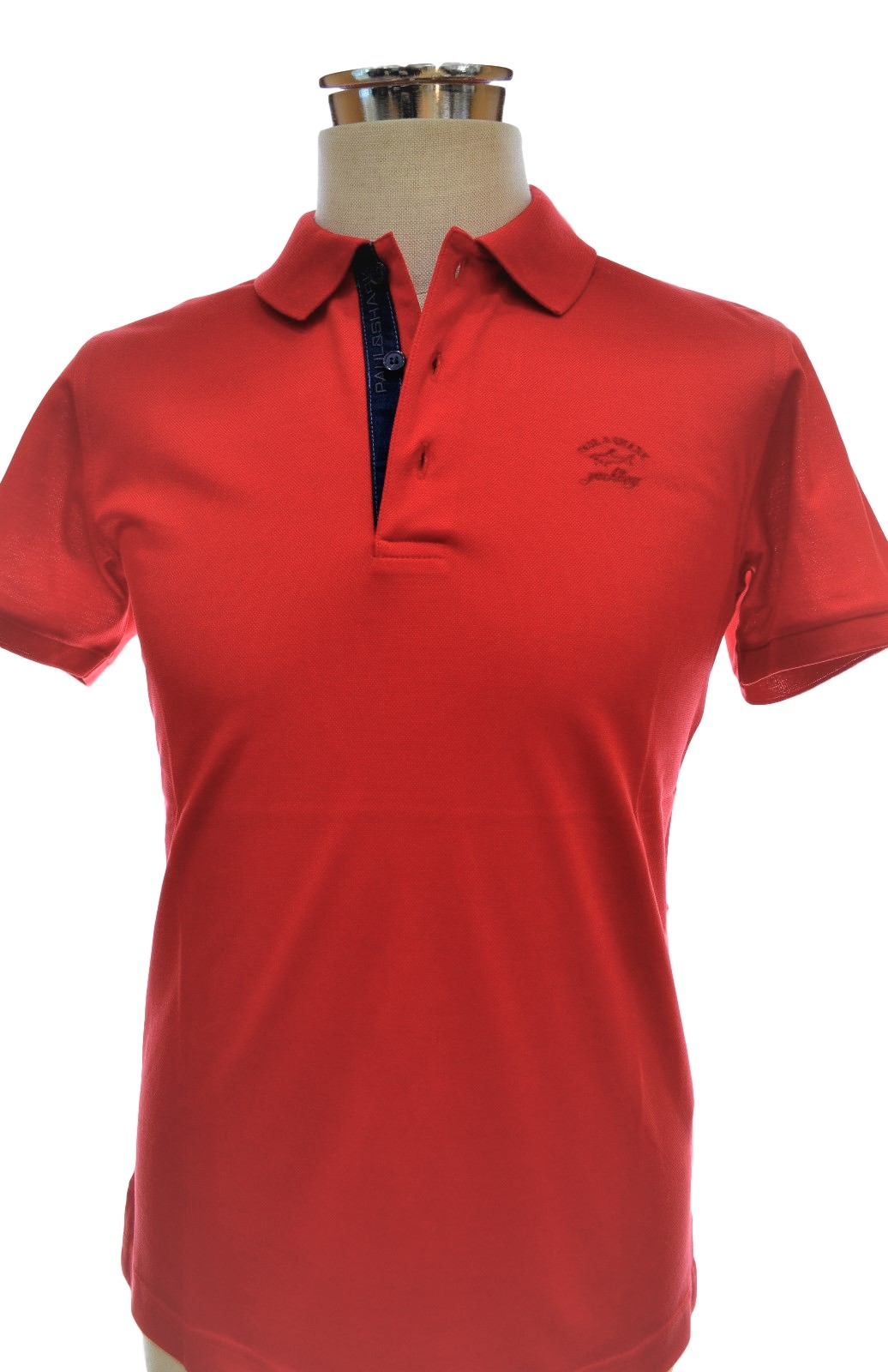 PAUL SHARK YACHTING E15P0978SF POLO SLIM FIT COL. 577 ROSSO
