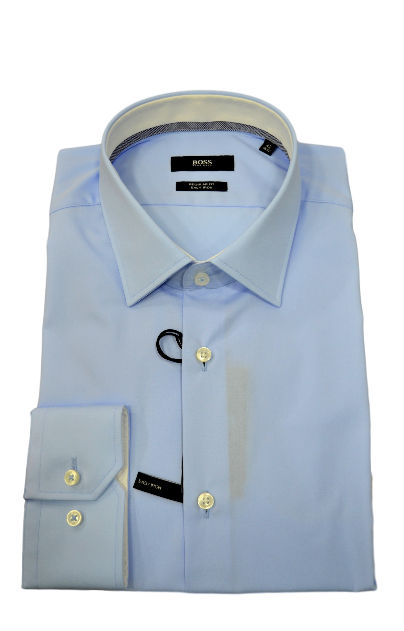 HUGO BOSS CAMICIA UOMO 50415621 GORAN REGULAR FIT CELESTE