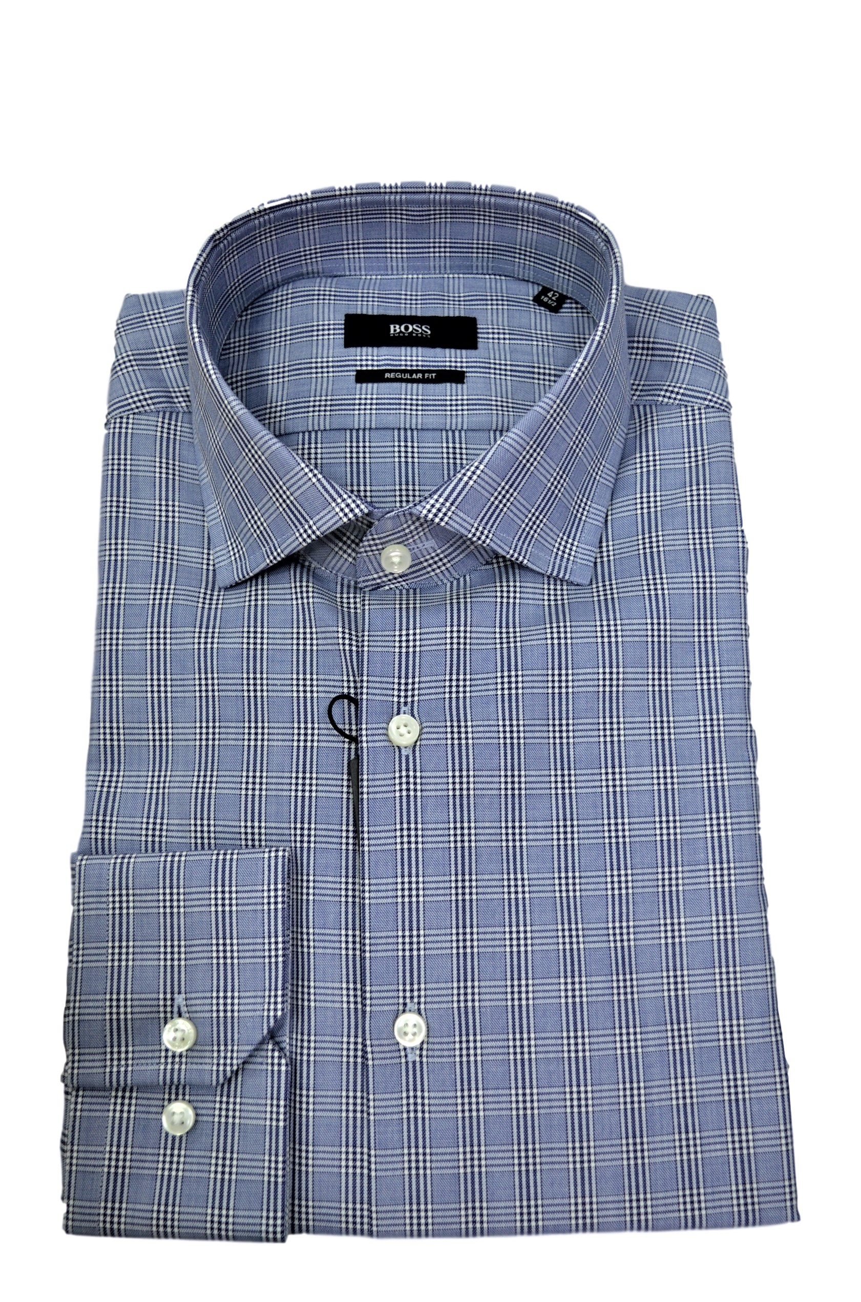 HUGO BOSS CAMICIA QUADRETTO FANTASIA 50415589 MOD. GORDON REGULAR FIT
