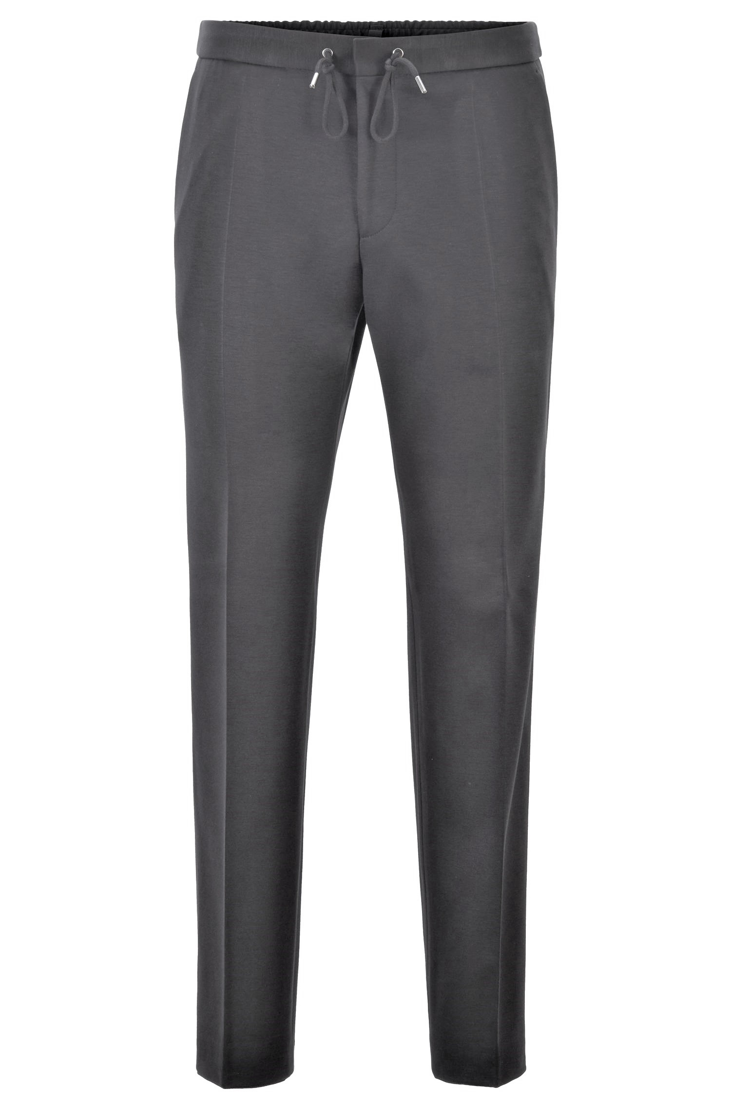 HUGO BOSS Pantaloni slim fit elasticizzato coulisse Banks4-J 50417949 GRIGIO