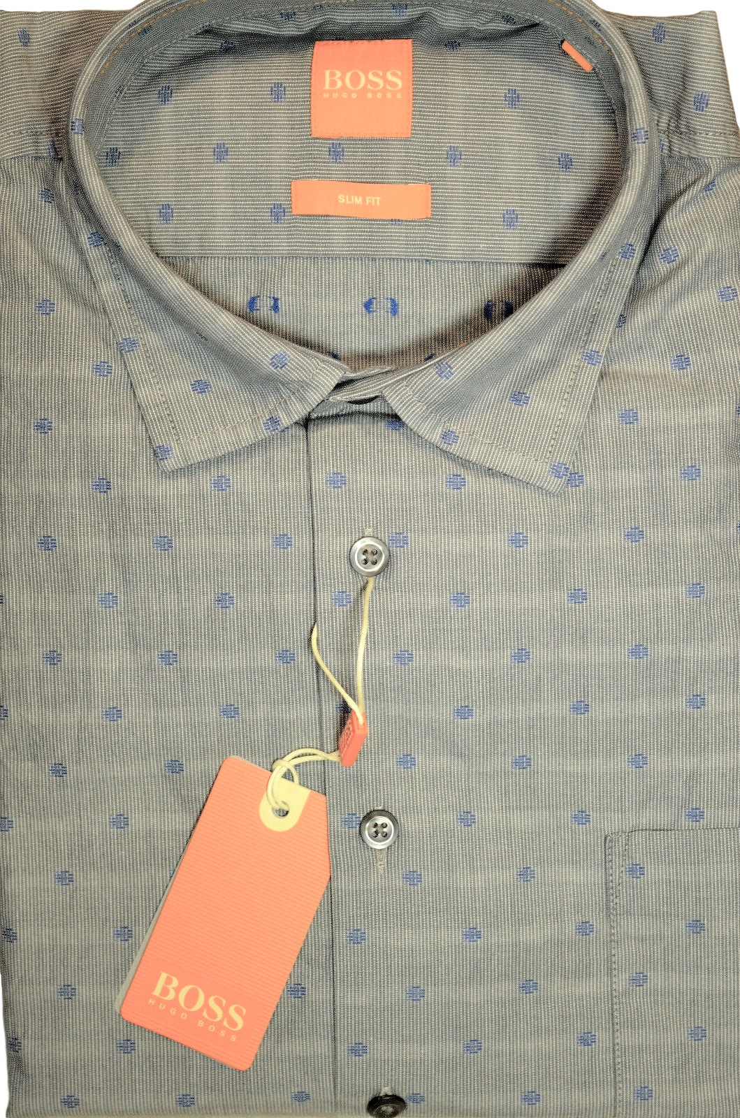 HUGO BOSS Camicia slim fit in cotone con simboli grafici - epop 50372685