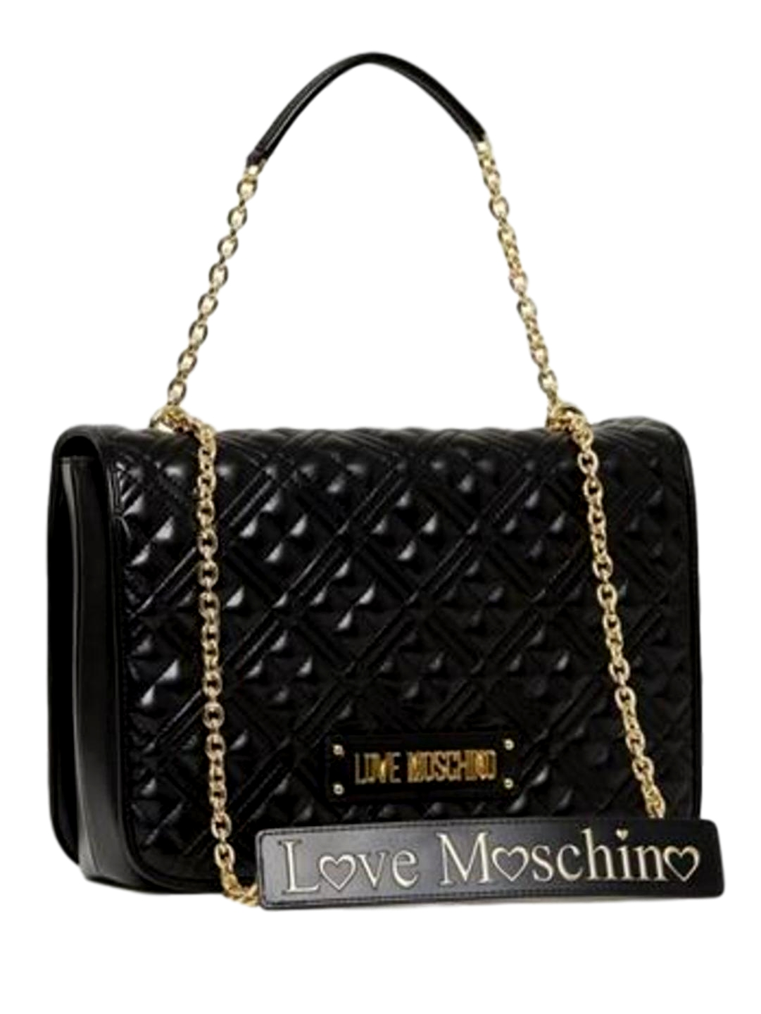 LOVE MOSCHINO BORSA QUILTED NAPPA PU NERO JC4003PP1ALA0000  Large
