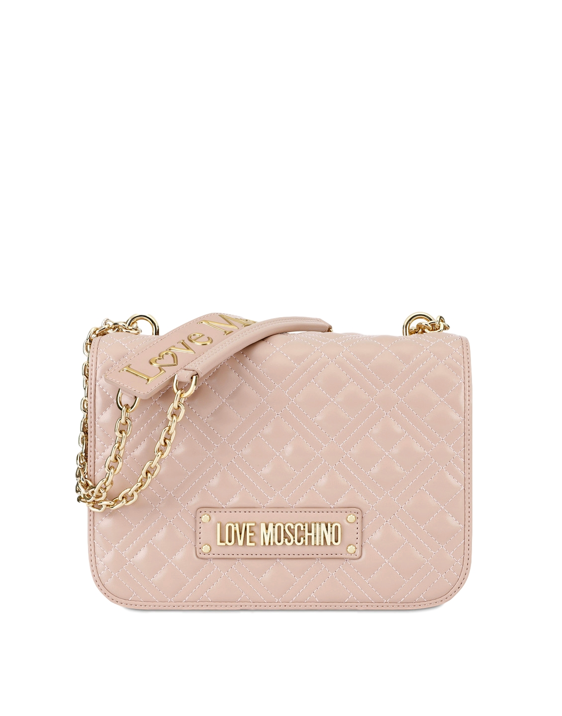 LOVE MOSCHINO P/E20 BORSA QUILTED NAPPA PU ROSA JC4000PP1ALA0600