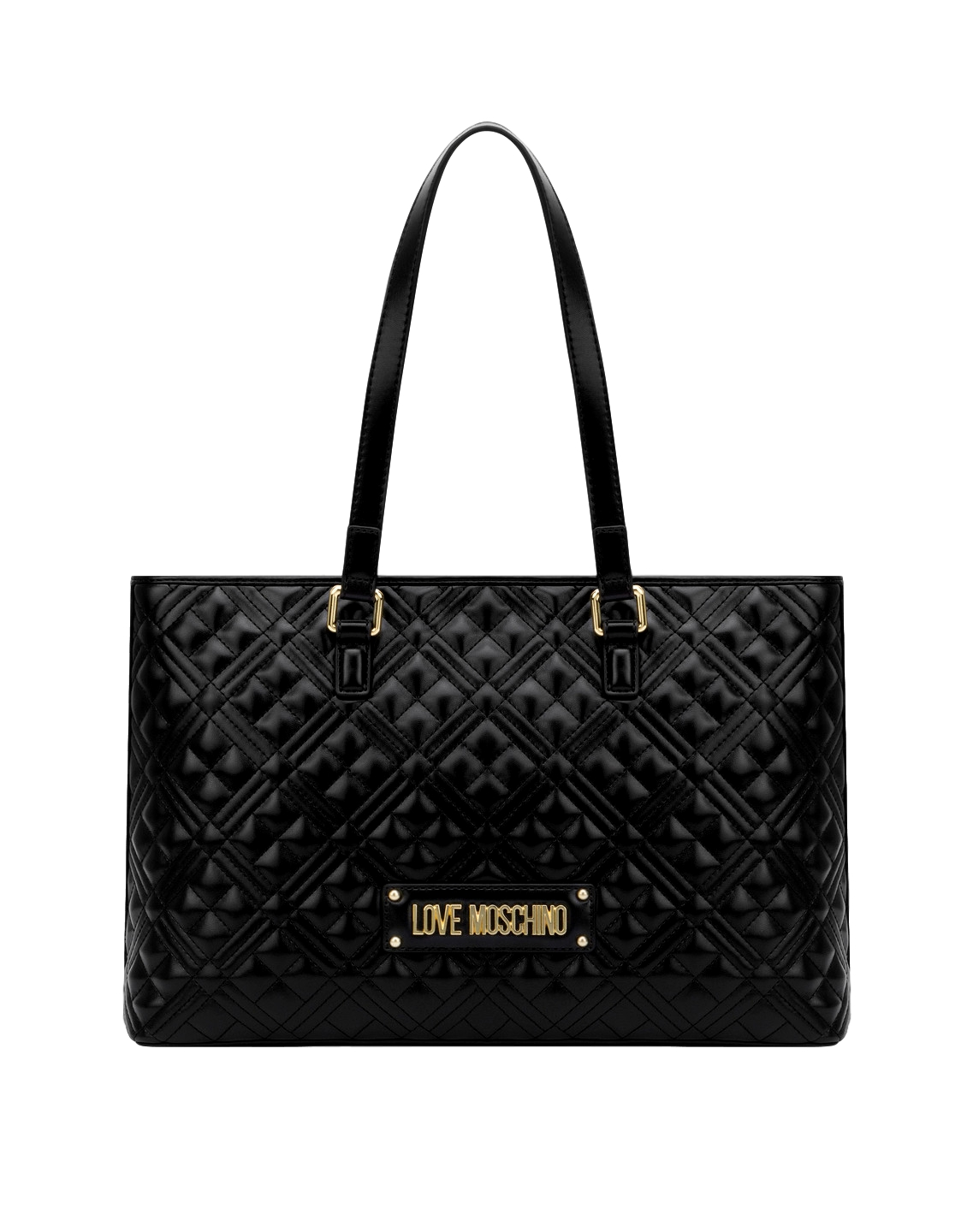 LOVE MOSCHINO P/E20 BORSA QUILTED NAPPA PU NERO JC4001PP1ALA0000 SHOPPER