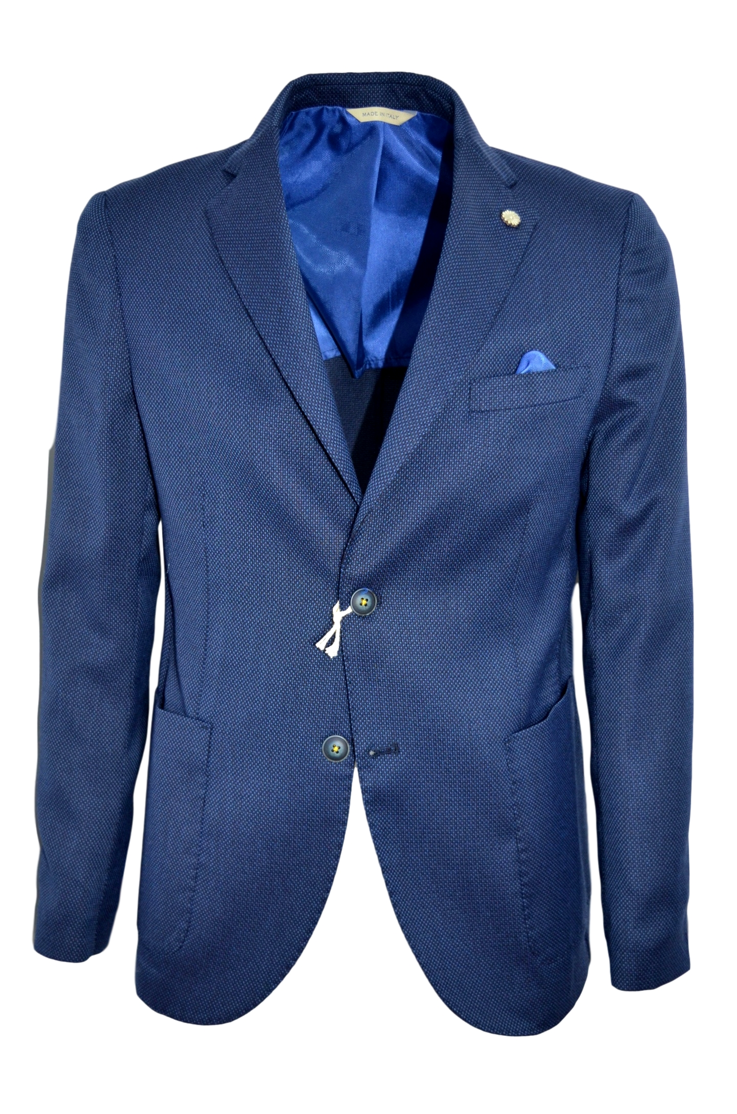 ALESSANDRO GILLES GIACCA UOMO SLIM FIT COLORE BLU G214