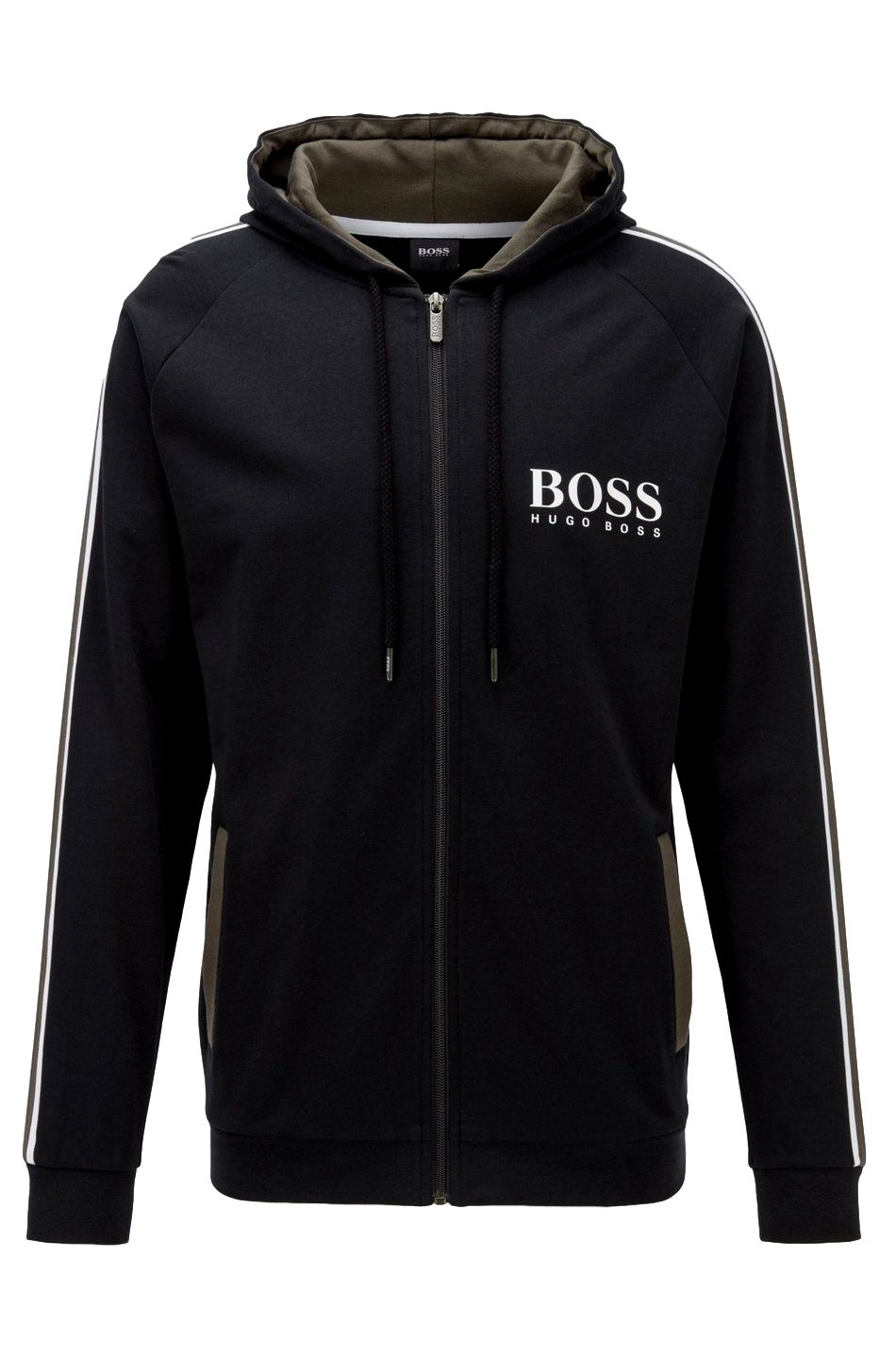 HUGO BOSS Felpa french terry con cappuccio Modello Authentic Jacket H - 50424806