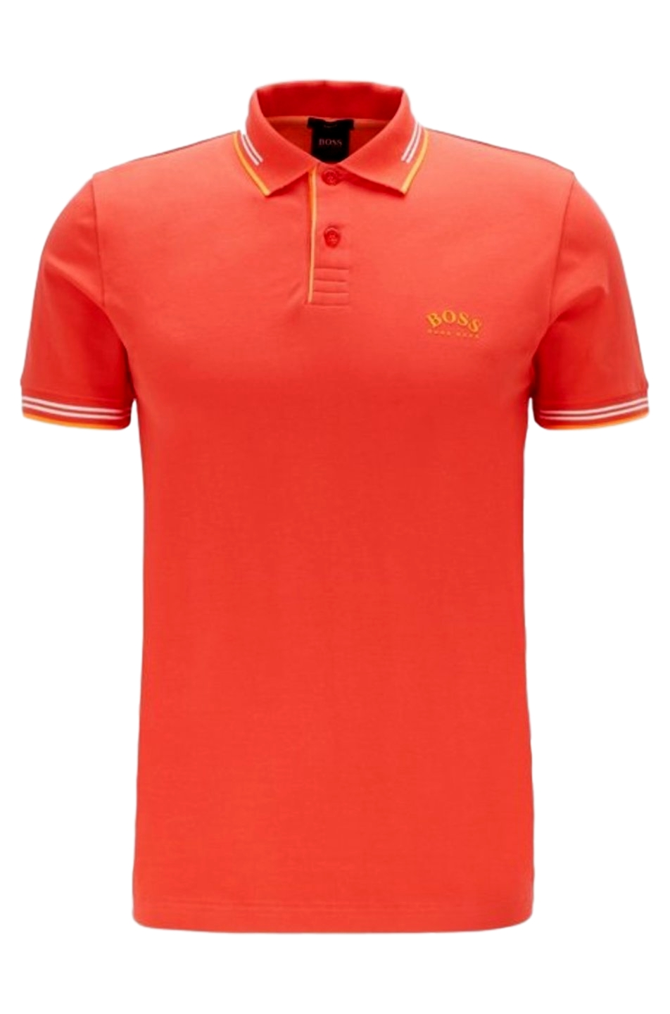 HUGO BOSS Polo slim fit pique elasticizzato ORANG  Mod. Paul Curved  50412675