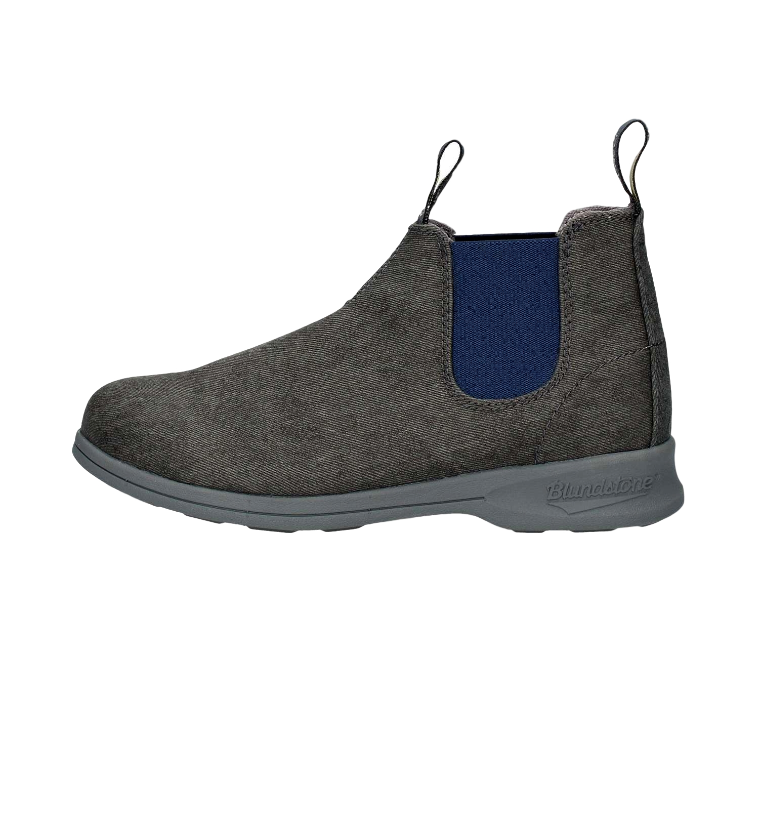 BLUNDSTONE 1369 STIVALETTI AUSTRALIANI CANVAS ELASTIC SIDE CHARCOAL PALE BLUE