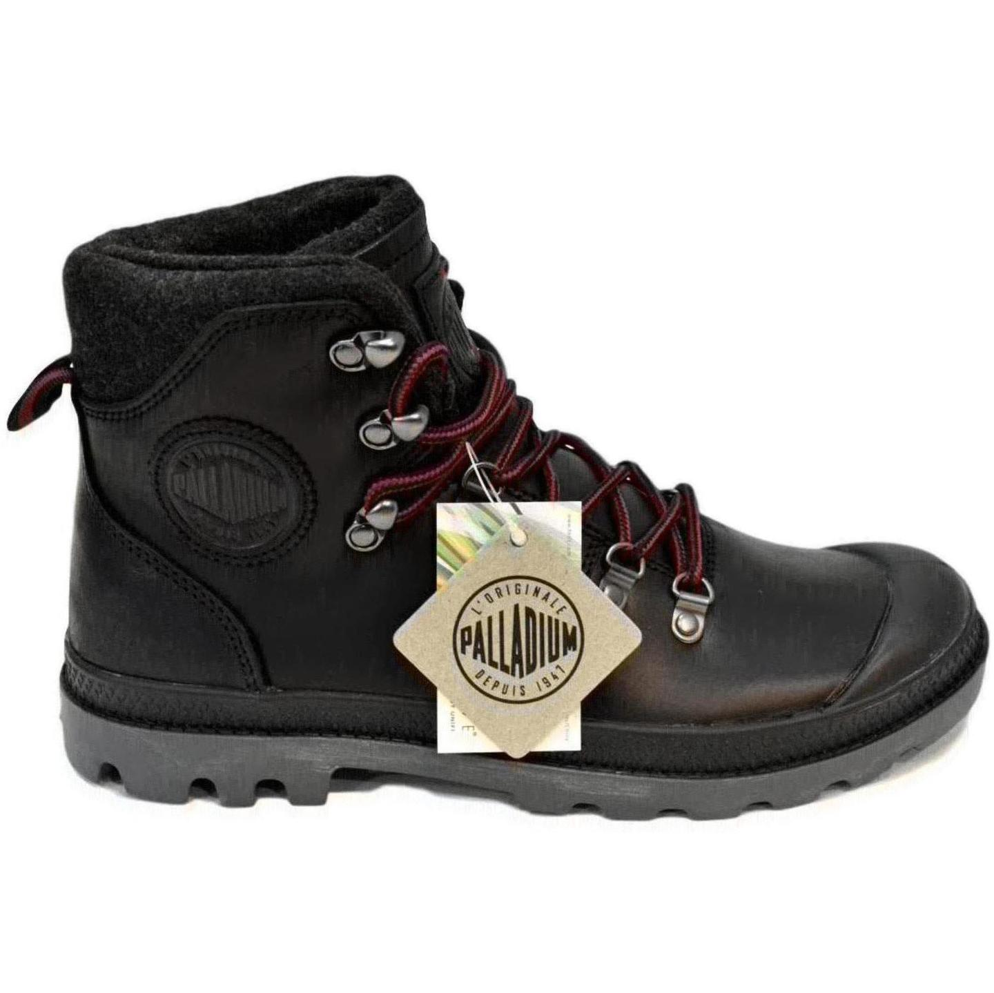 PALLADIUM PALLABROUSE HIKR PELLE COLORE BLACK RED CASTLEROCK