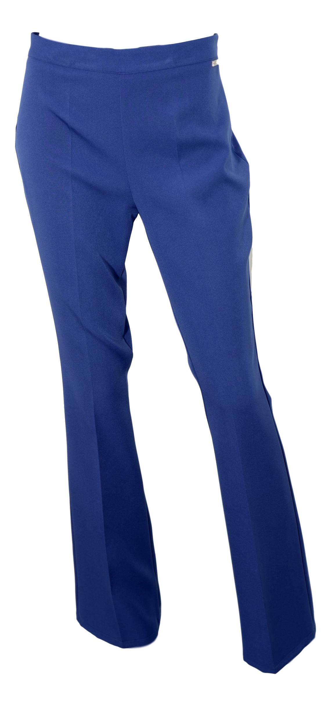 LISA KOTT PANTALONE DONNA CURVY STYLE 13714 COLORE BLUETTE MADE IN ITALY