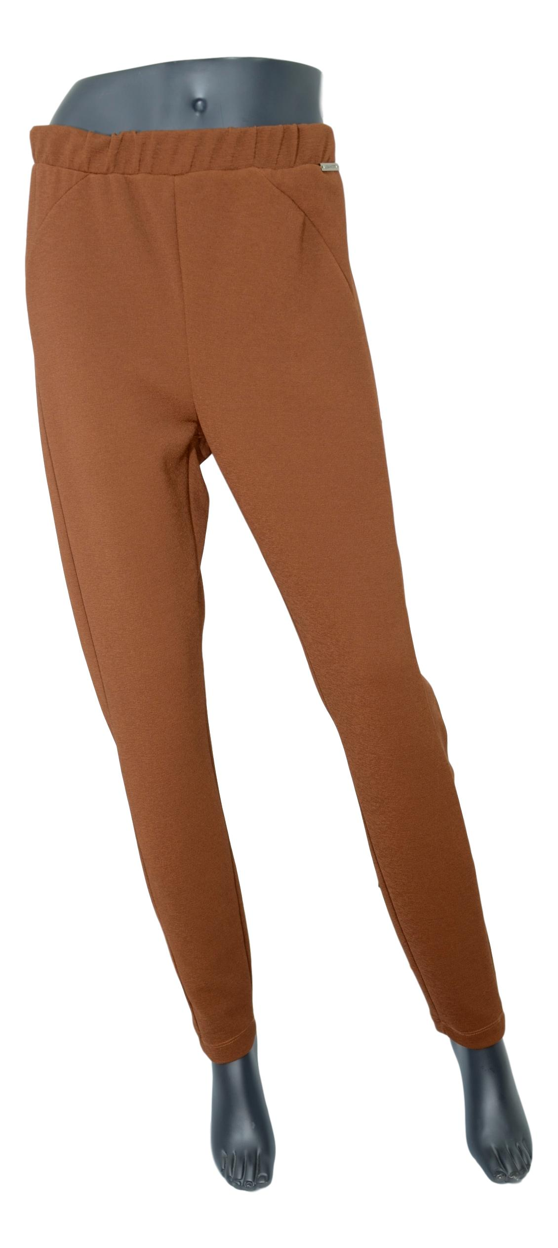 LISA KOTT PANTALONE DONNA CURVY STYLE 9P1012 COLORE NOCCIOLA MADE IN ITALY