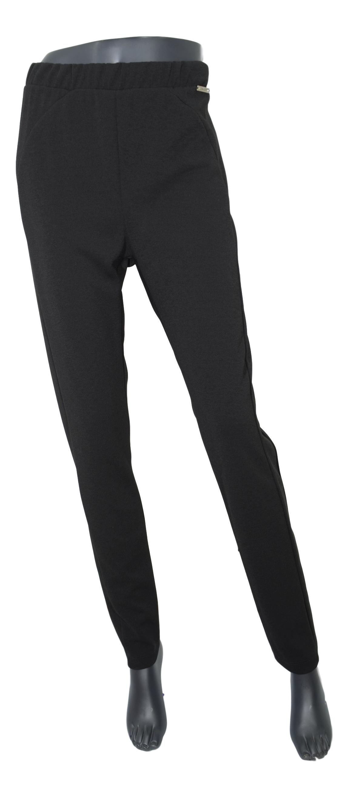LISA KOTT PANTALONE DONNA CURVY STYLE 9P1012 COLORE NERO MADE IN ITALY