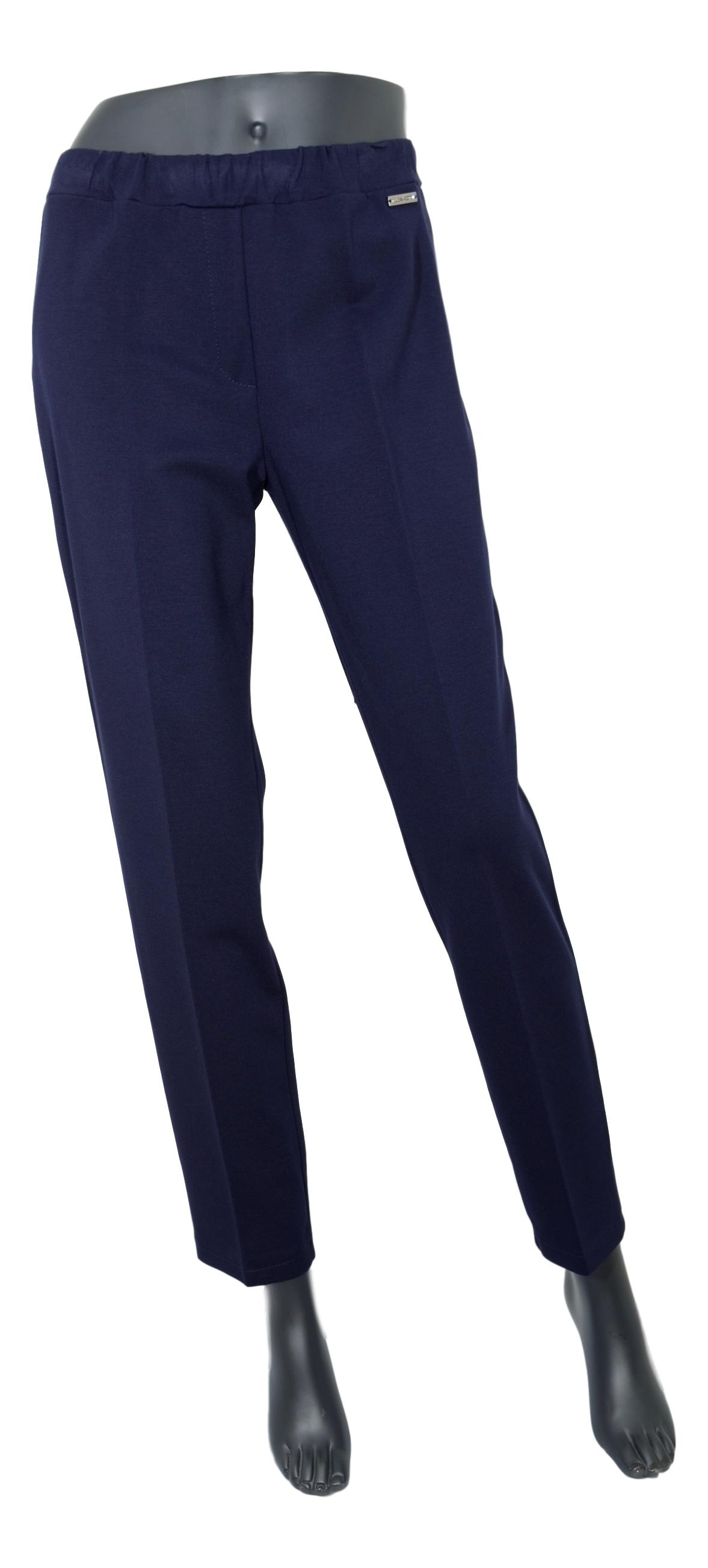 LISA KOTT PANTALONE DONNA CURVY STYLE 4175 COLORE BLU MADE IN ITALY