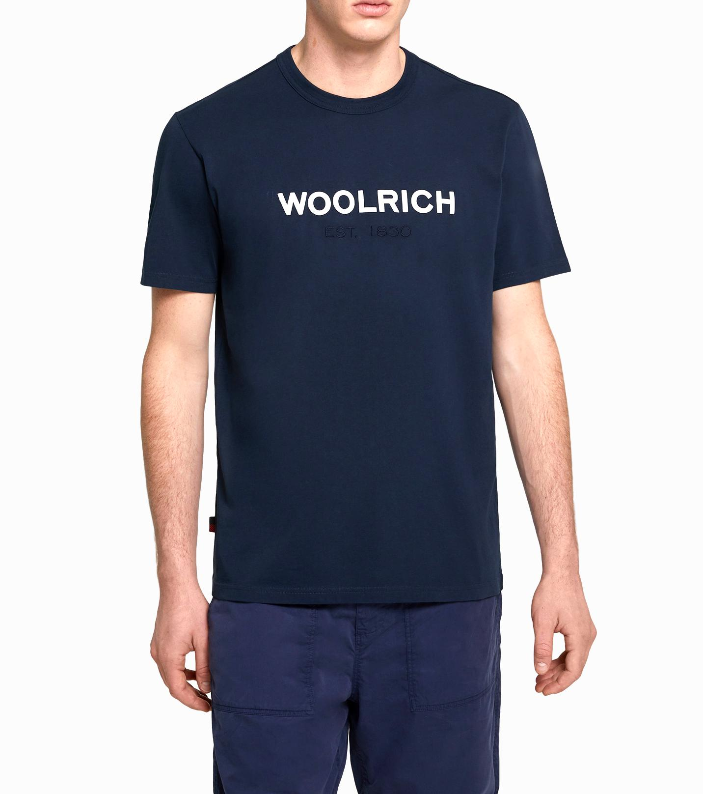 WOOLRICH T SHIRT UOMO Men's Logo T-Shirt Colore: MELTON BLUE