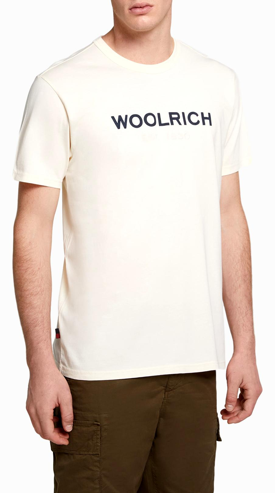 WOOLRICH T SHIRT UOMO Men's Logo T-Shirt Colore: FEATHER WHITE