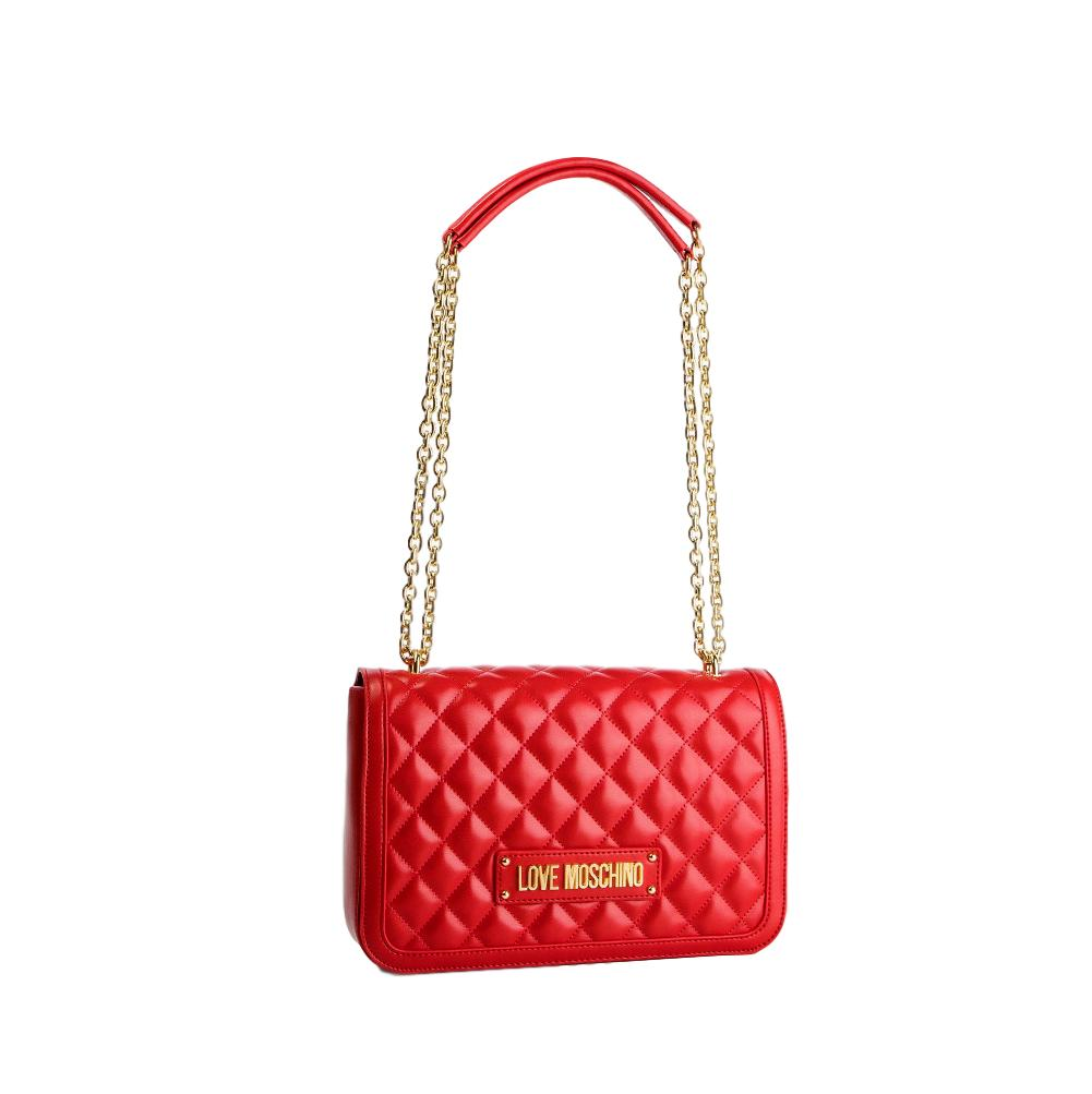 LOVE MOSCHINO BORSA QUILTED NAPPA PU ROSSO JC4200PP07KA0500