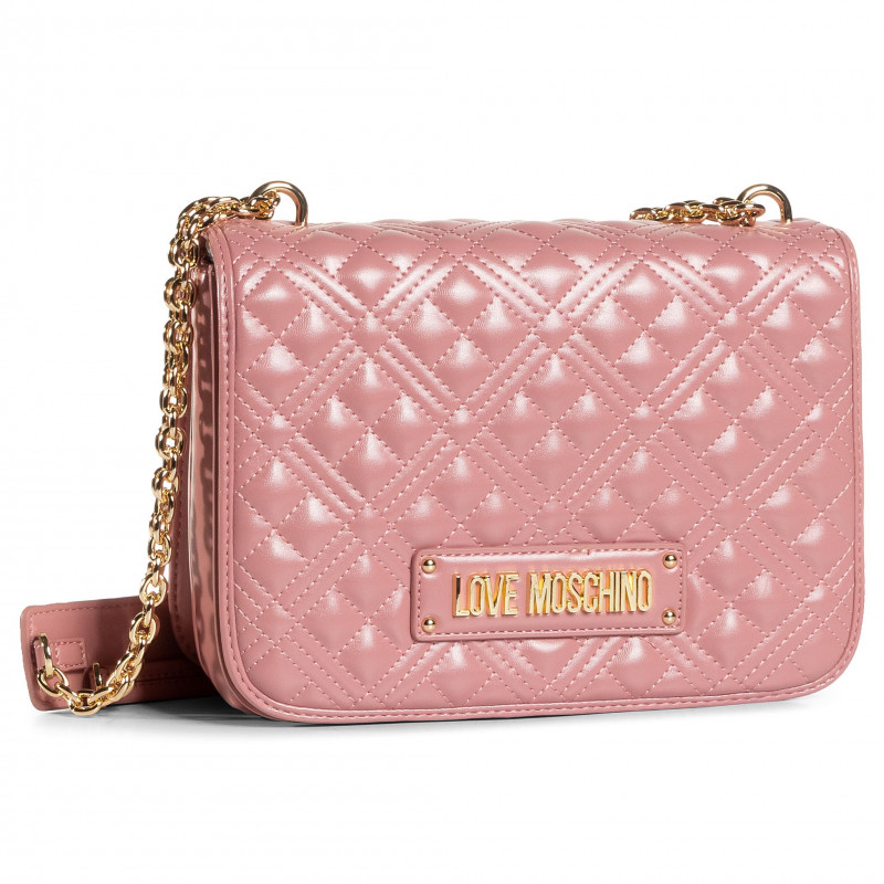 LOVE MOSCHINO BORSA QUILTED NAPPA PU ROSA SCURO JC4000PP1BLA0621