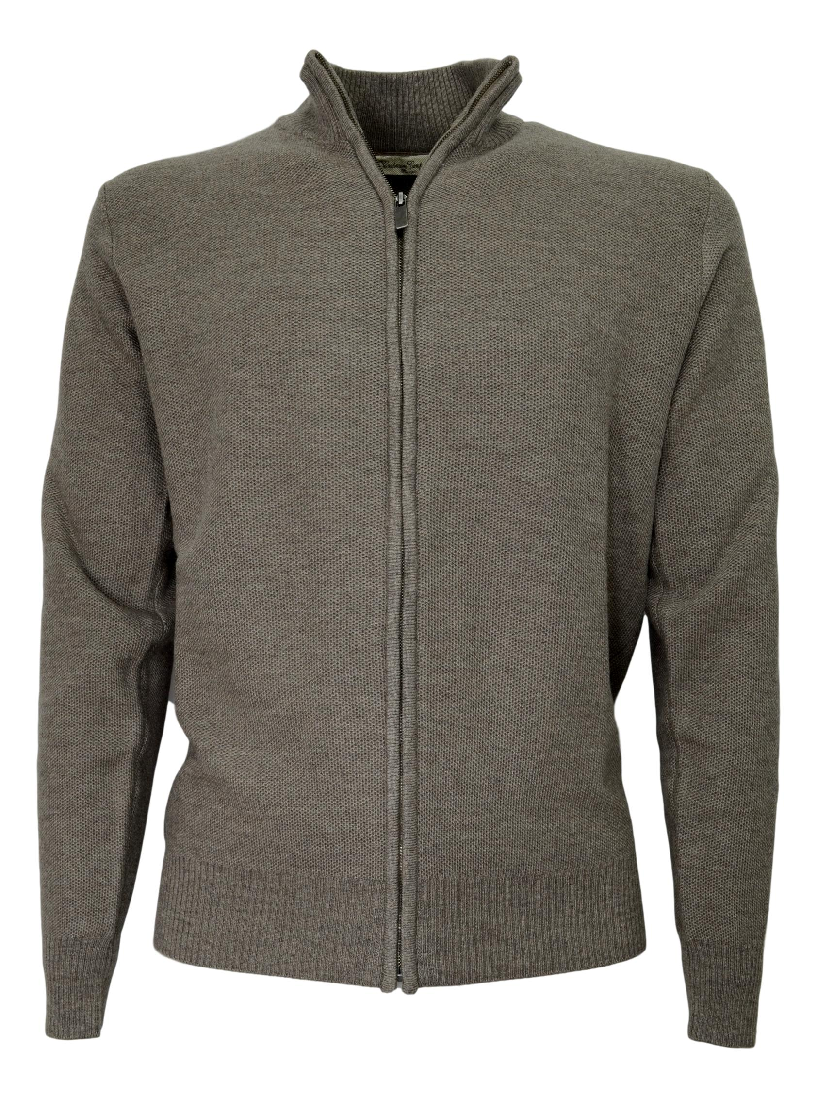 CASHMERE COMPANY CARDIGAN ZIP 415 MAD MADE IN ITALY CASHMERE E LANA
