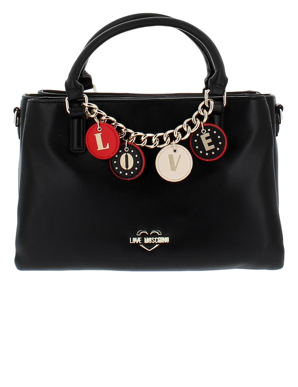 LOVE MOSCHINO BORSA SMALL GRAN PU NERO JC4228PP0BKD0000