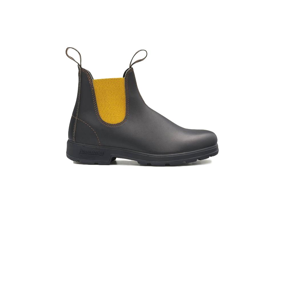 BLUNDSTONE STIVALETTO IN STILE CHELSEA 919 ORIGINALS SERIES MARRONE MOSTARDA