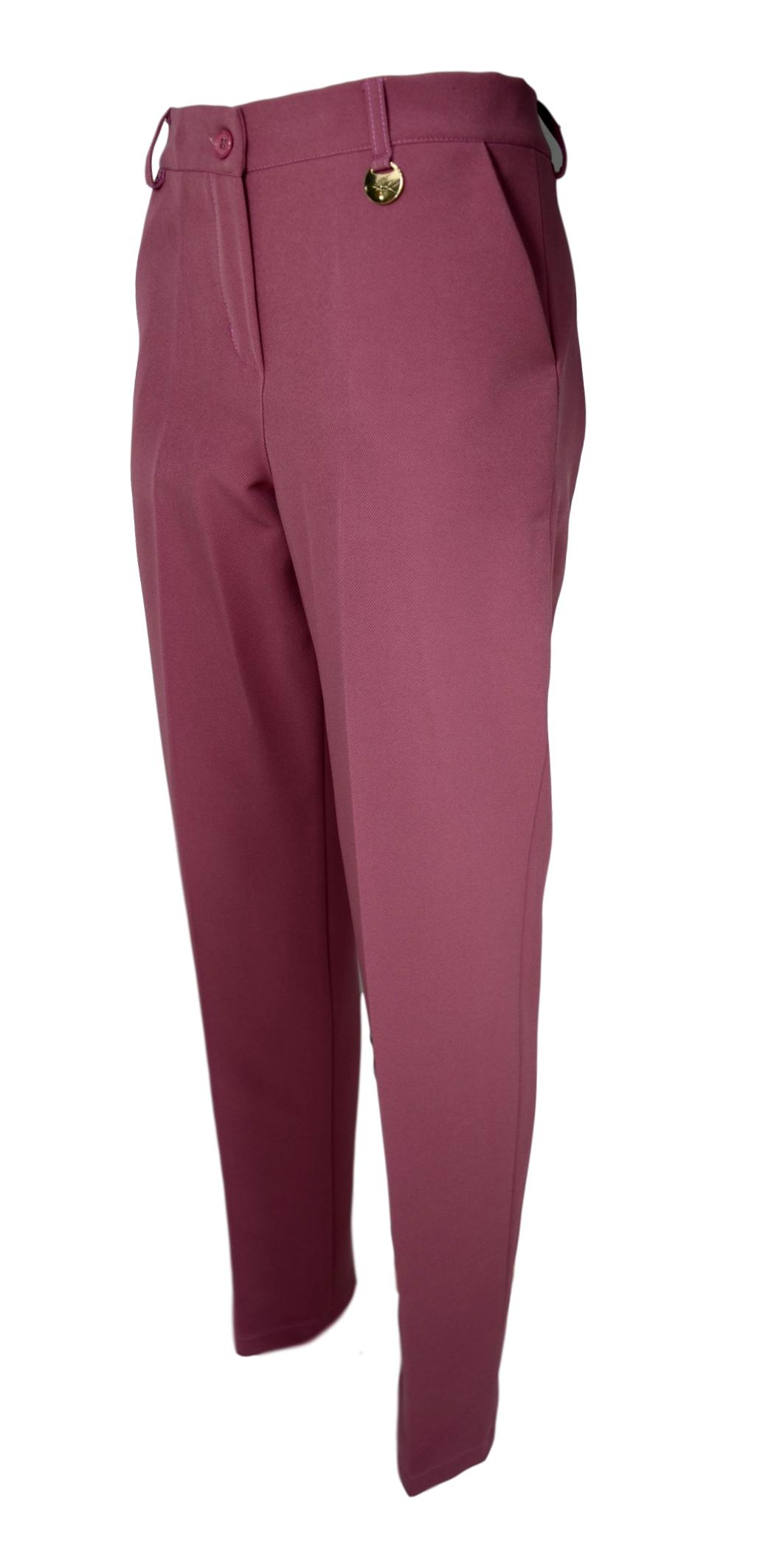 LISA KOTT PANTALONE DONNA CURVY STYLE 6003 COLORE ROSA MADE IN ITALY
