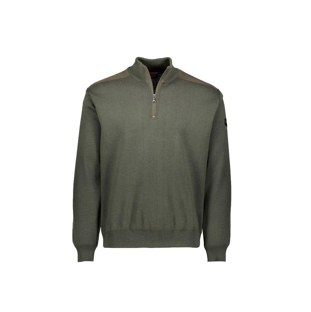 PAUL SHARK YACHTING PULL ZIP CON TOPPE COLORE VERDE MODELLO COP1028